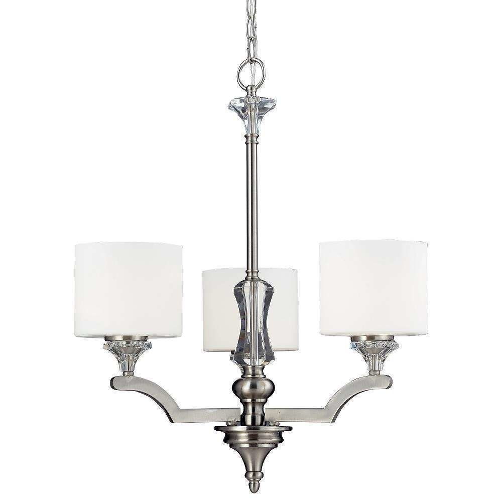 Corbin 3 Light Shaded Chandelier Regarding Clea 3 Light Crystal Chandeliers (View 13 of 30)