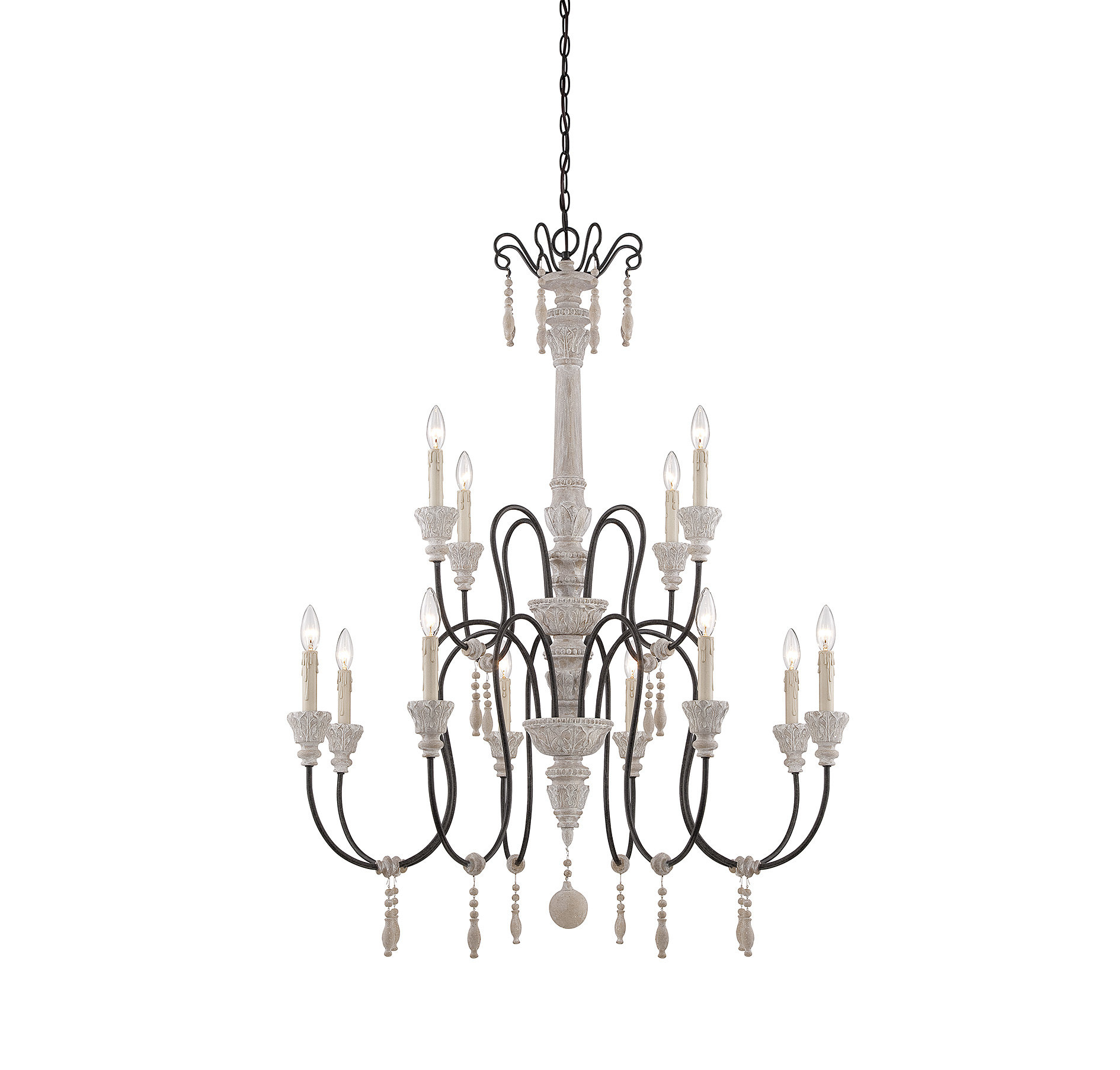 Corneau 12-Light Chandelier & Reviews | Joss & Main intended for Corneau 5-Light Chandeliers (Image 12 of 30)