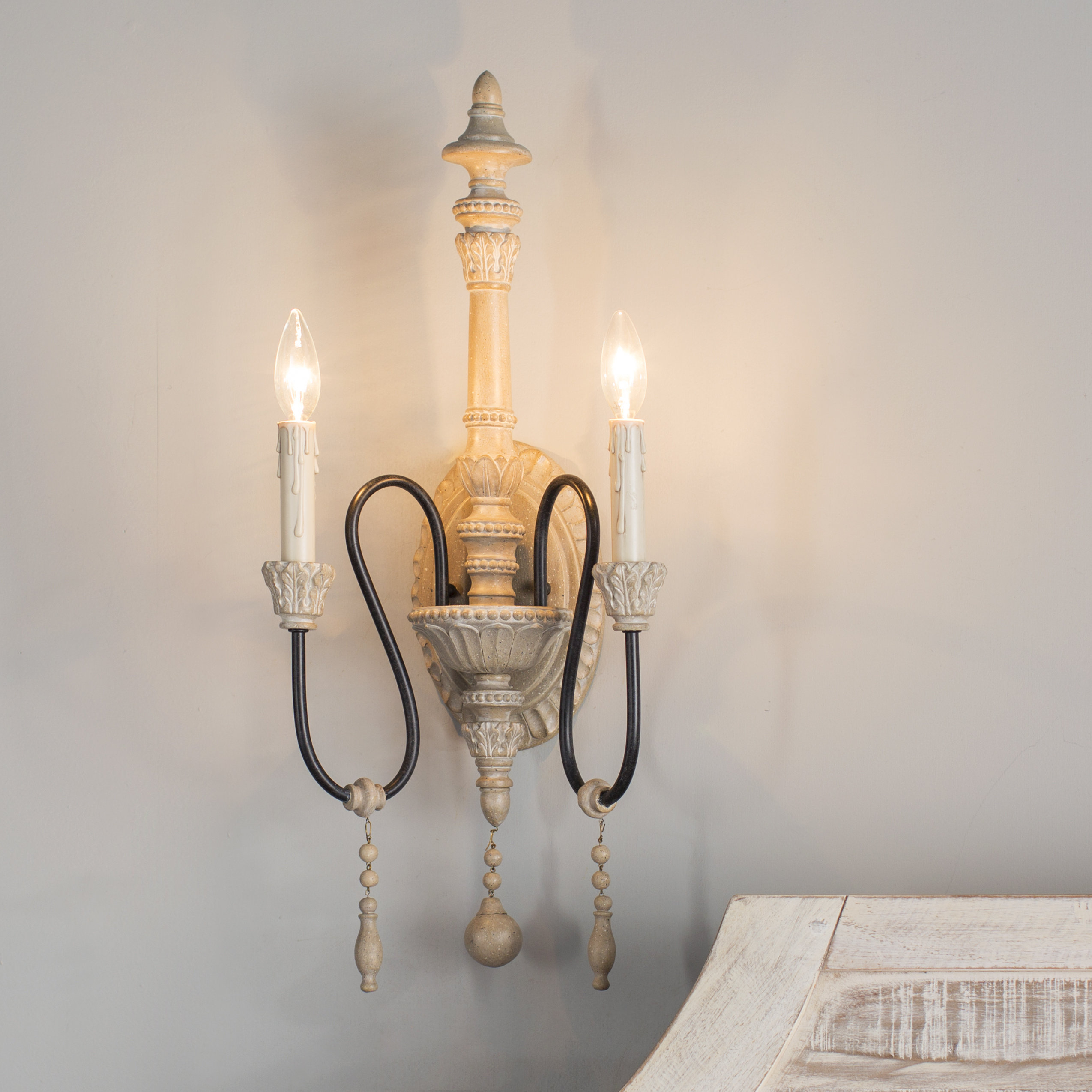 Corneau 2-Light Candle Wall Light with regard to Corneau 5-Light Chandeliers (Image 14 of 30)
