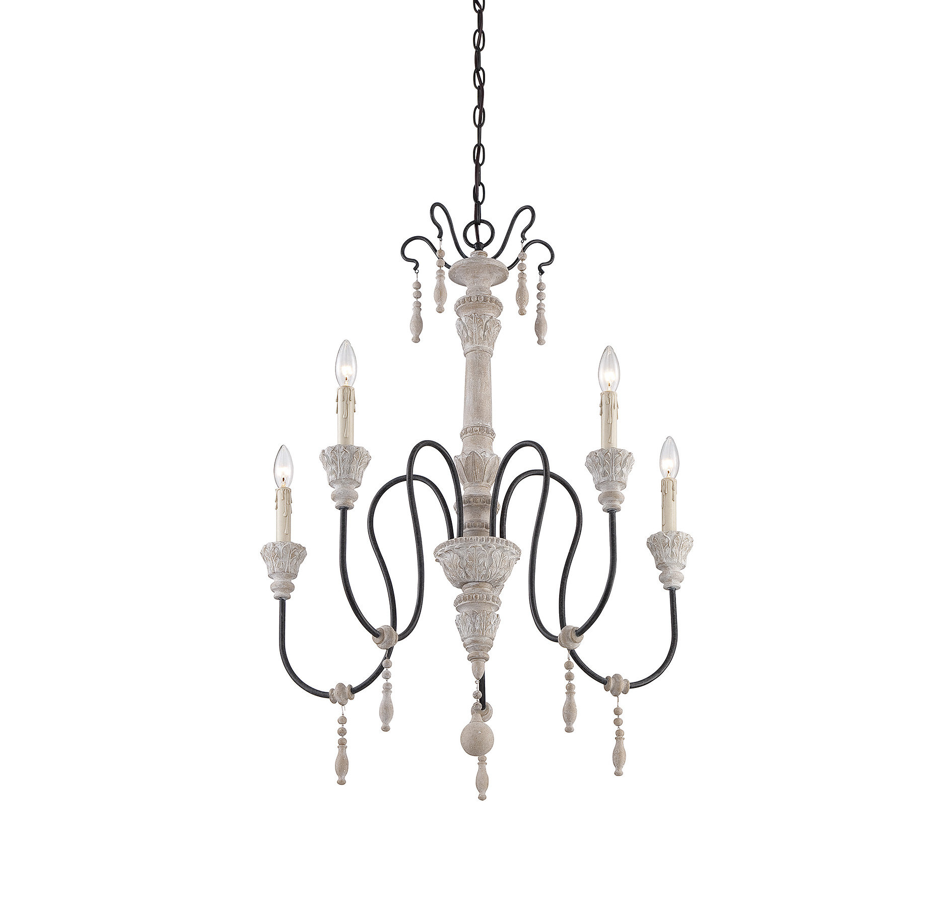 Corneau 5 Light Chandelier & Reviews | Joss & Main Within Bouchette Traditional 6 Light Candle Style Chandeliers (View 16 of 30)
