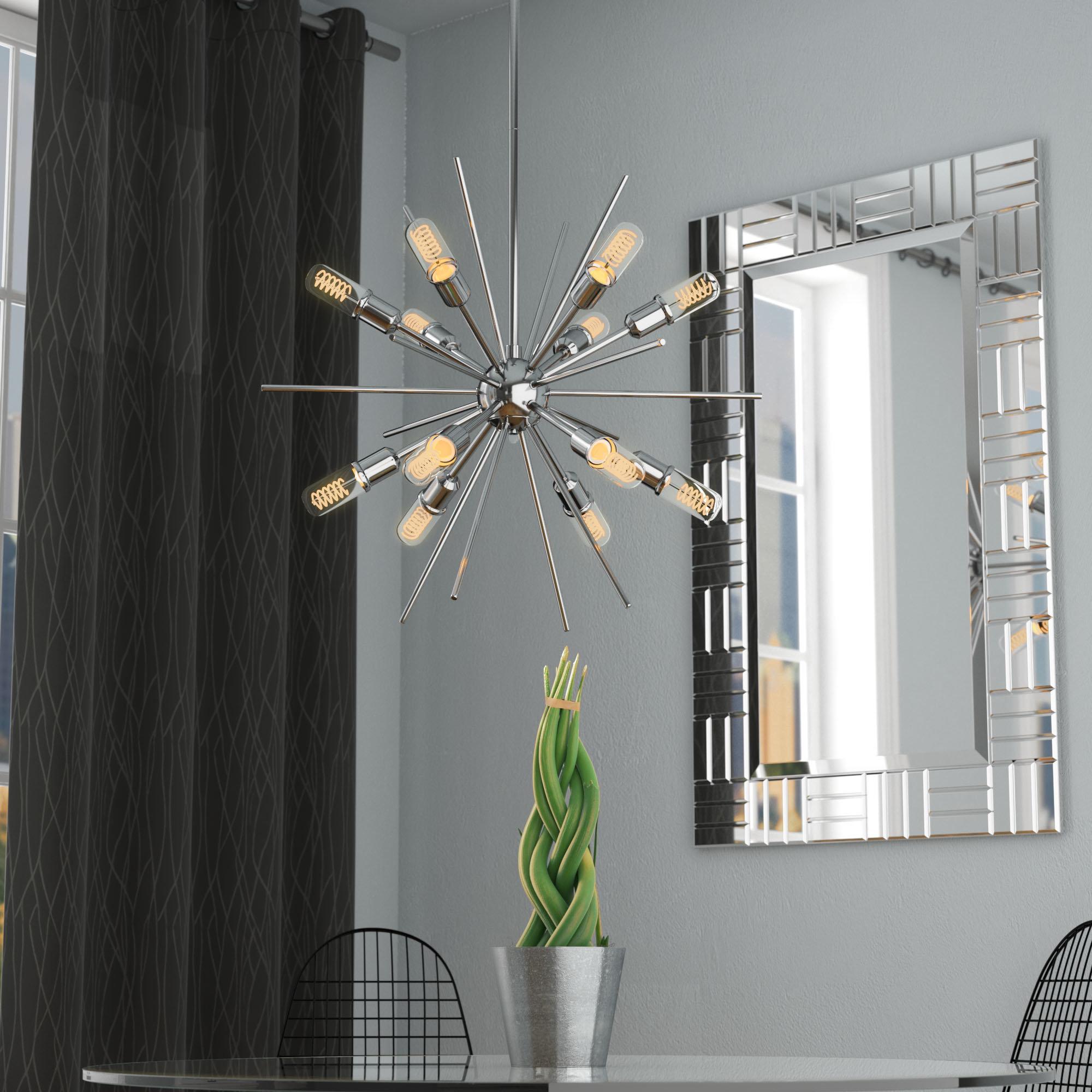 Corona 12 Light Sputnik Chandelier For Bacchus 12 Light Sputnik Chandeliers (View 2 of 30)