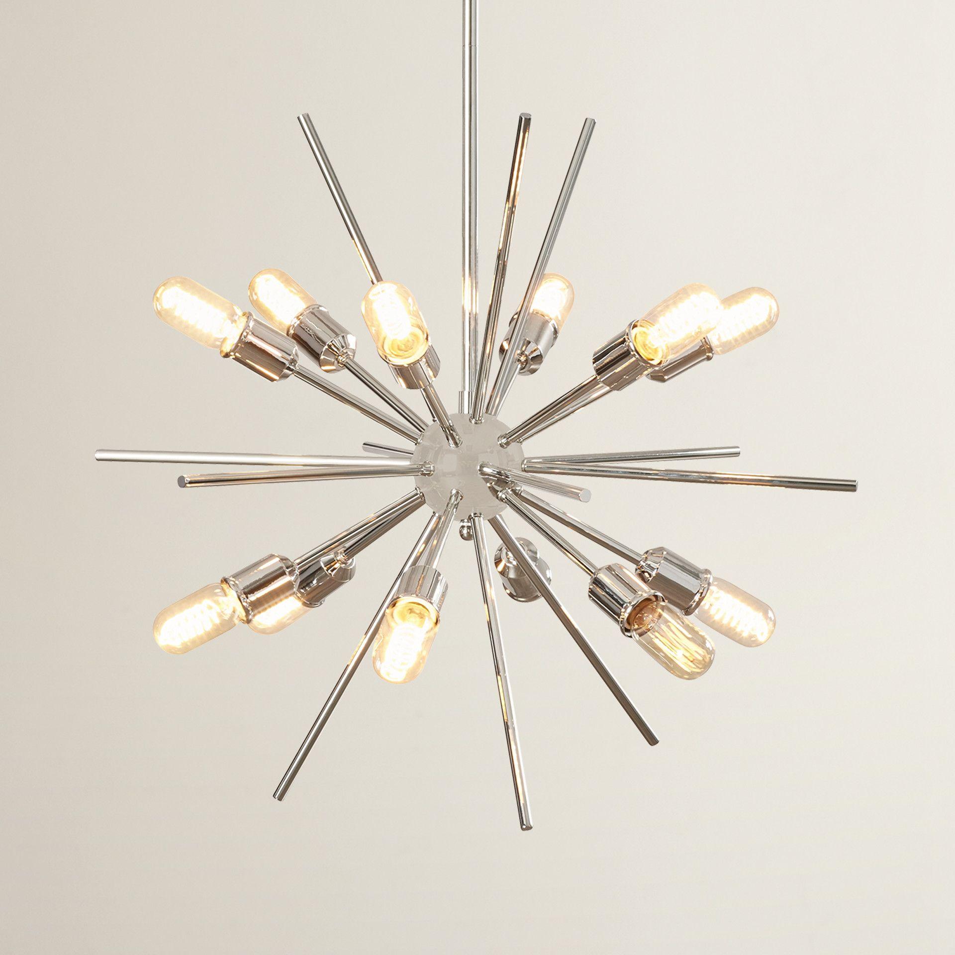 Corona 12-Light Sputnik Chandelier | Lighting | Sputnik pertaining to Corona 12-Light Sputnik Chandeliers (Image 13 of 30)