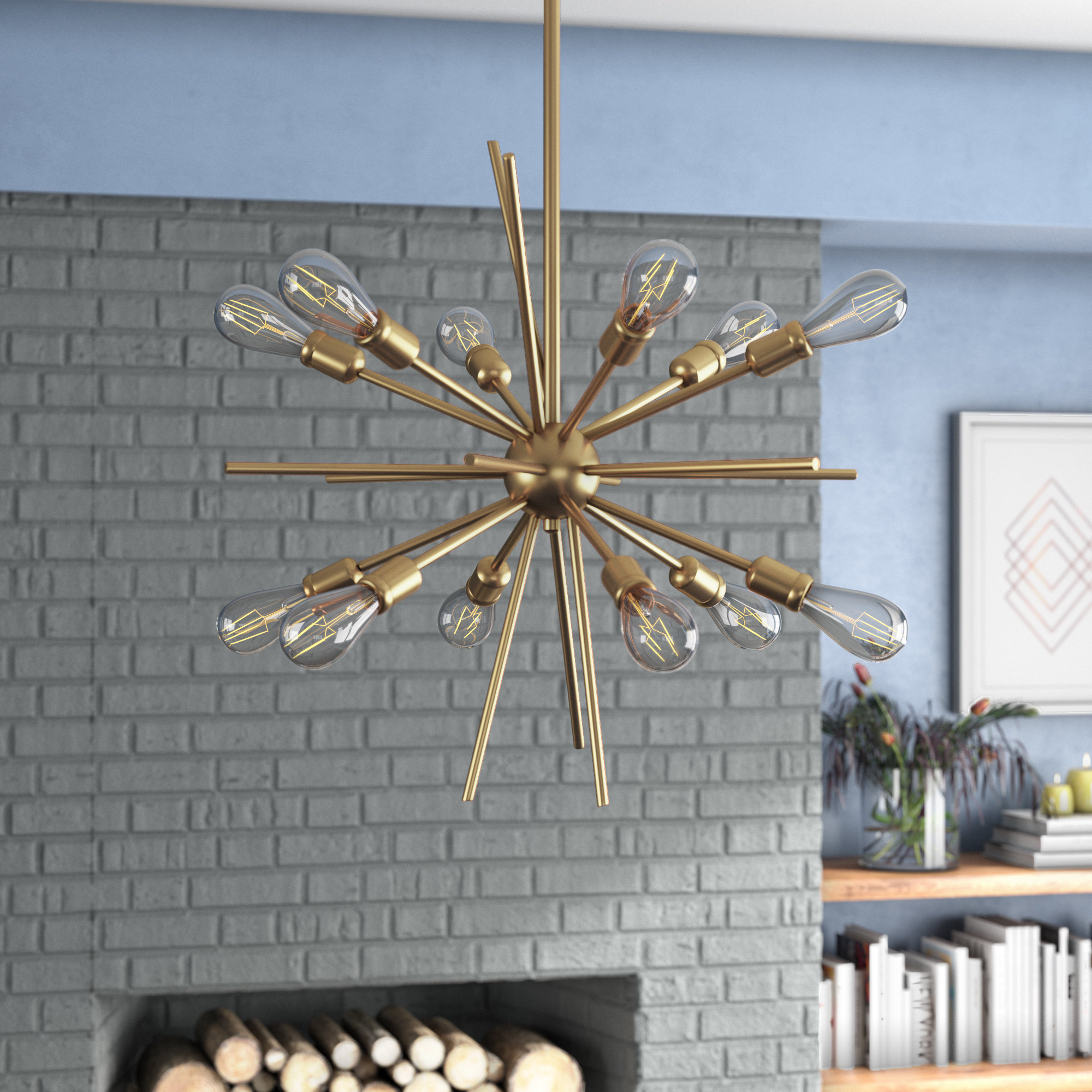 Corona 12-Light Sputnik Chandelier with Asher 12-Light Sputnik Chandeliers (Image 10 of 30)