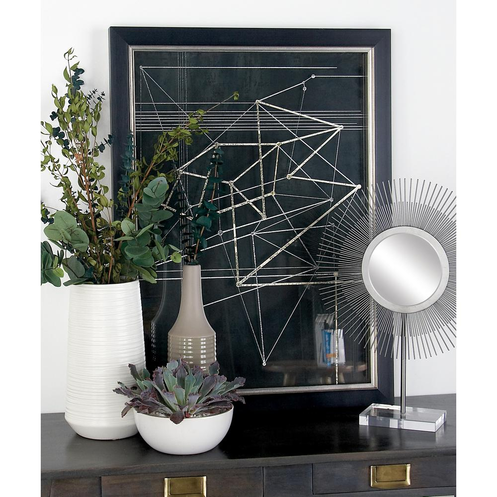 "Cosmolivingcosmopolitan 31 In. X 23 In. ""triangles And with Metal Wall Decor By Cosmoliving (Image 13 of 30)"