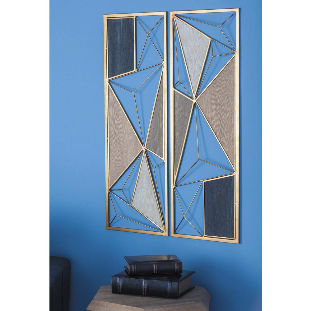 Cosmolivingcosmopolitan 35 In. X 12 In. W Assorted throughout Metal Wall Decor By Cosmoliving (Image 14 of 30)