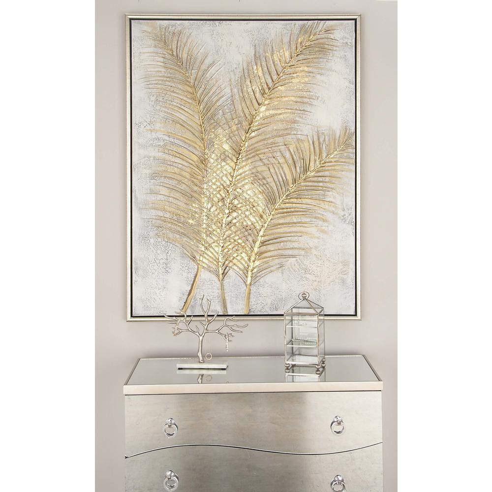 "Cosmolivingcosmopolitan 48 In. X 36 In. """"golden with regard to Metal Wall Decor by Cosmoliving (Image 15 of 30)"
