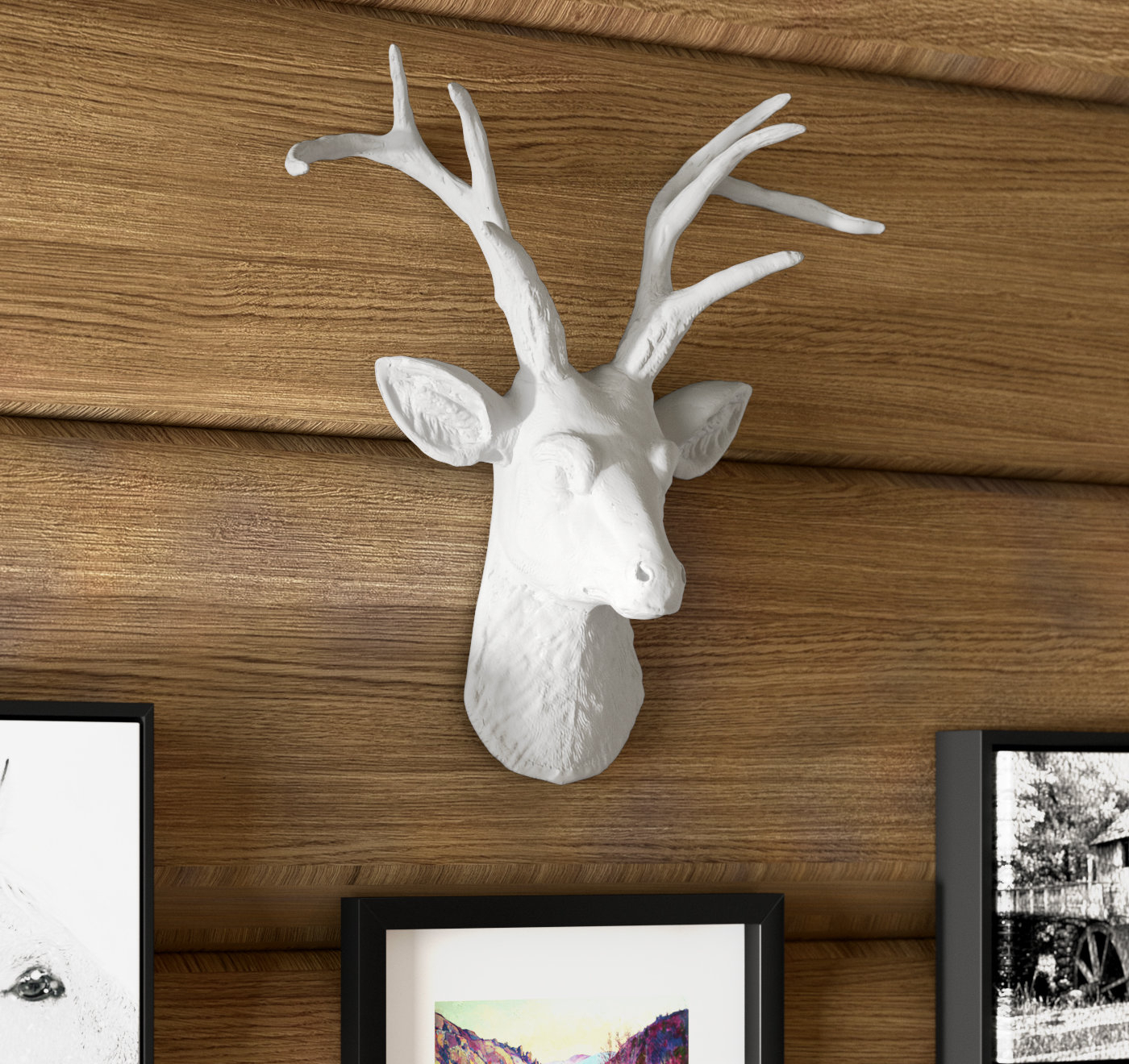 Cottage Faux Deer Head Wall Décor Intended For Highlands Ranch The Templeton Wall Decor (View 13 of 30)