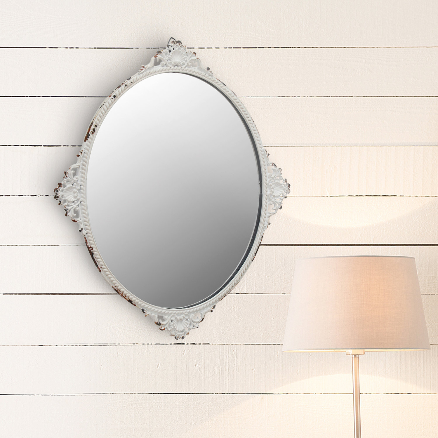 Country French Mirrors | Wayfair With Polito Cottage/country Wall Mirrors (Image 4 of 30)