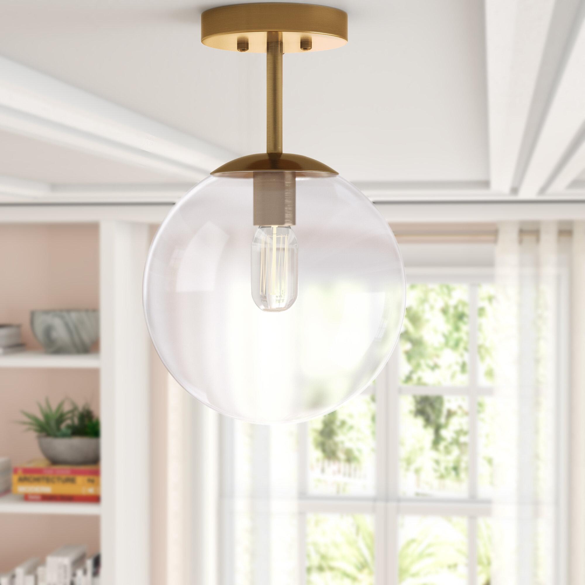 Cournoyer 1-Light Globe Pendant for 1-Light Geometric Globe Pendants (Image 11 of 30)