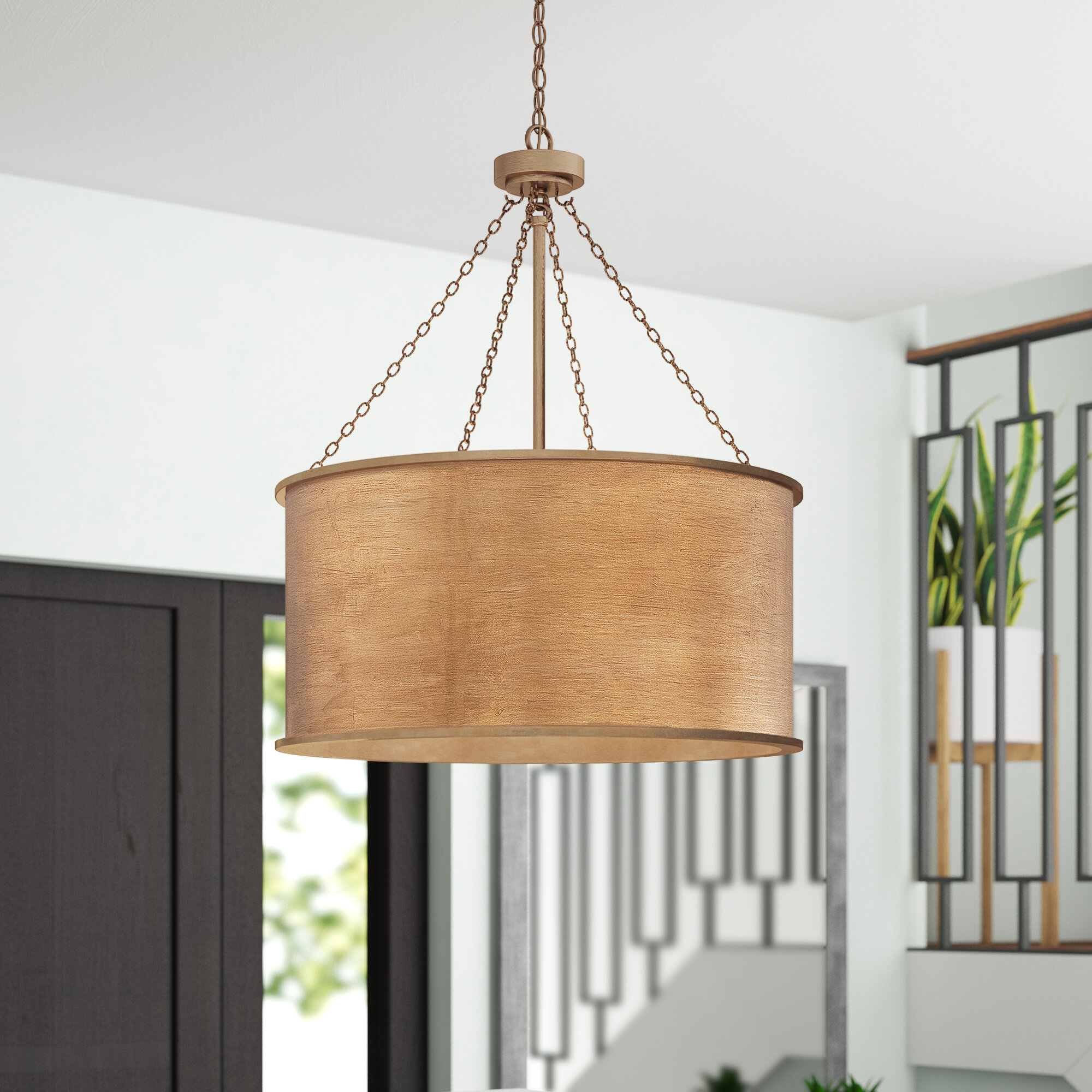 Cranston 4 Light Drum Chandelier Throughout Emaria 3 Light Single Drum Pendants (View 23 of 30)