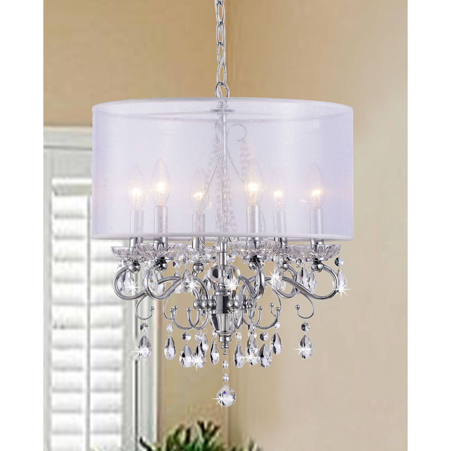 Create An Elegant Ambience In Your Home With This Crystal inside Sinead 4-Light Chandeliers (Image 12 of 30)
