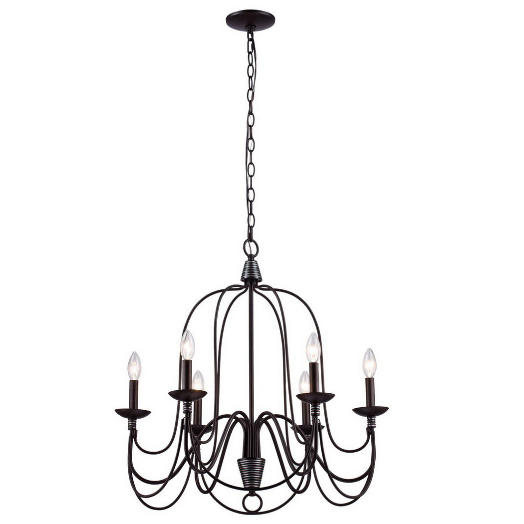 Crim Vintage 6-Light Chandelier with regard to Watford 6-Light Candle Style Chandeliers (Image 6 of 30)