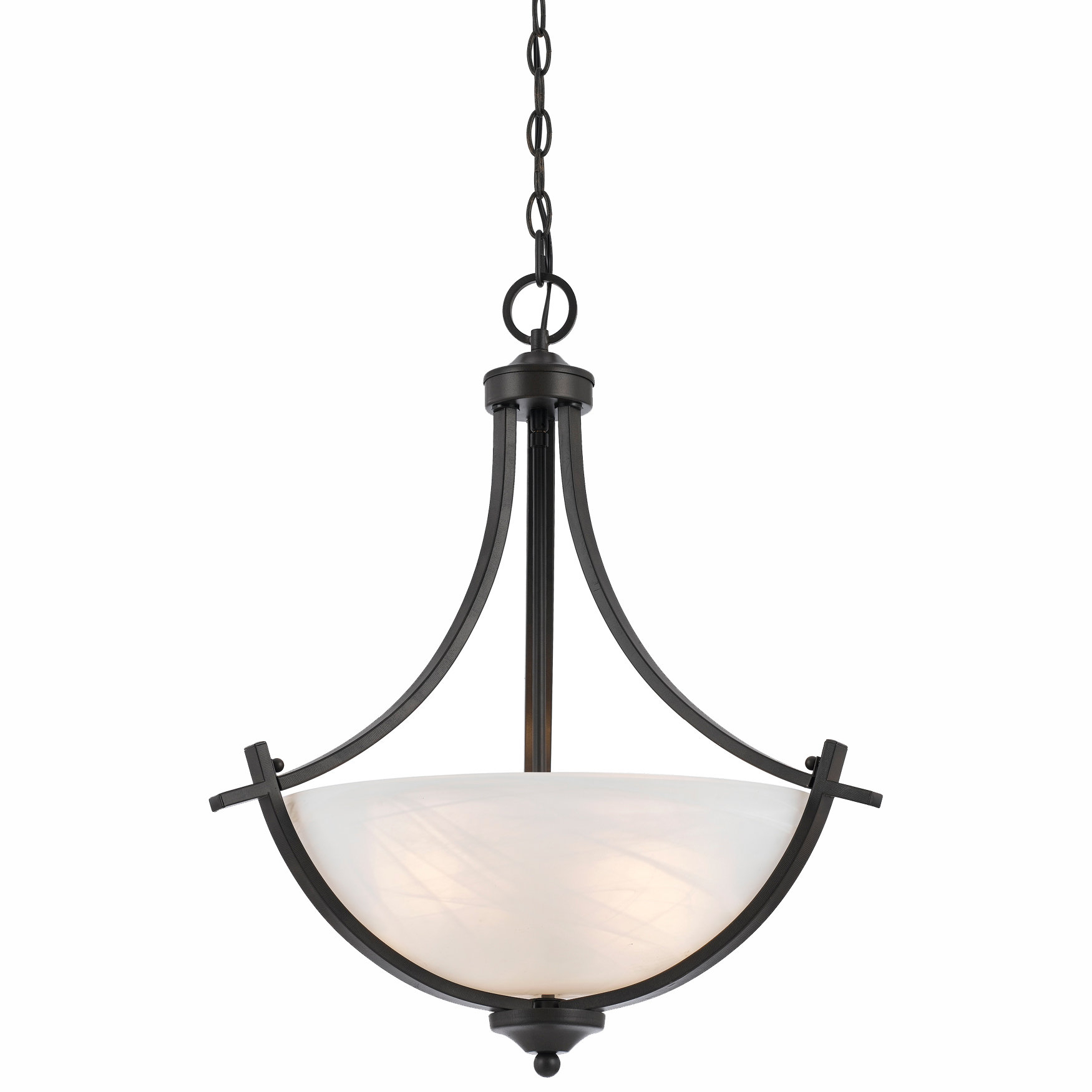 Crofoot Traditional 3 Light Bowl Pendant In Crofoot 5 Light Shaded Chandeliers (View 8 of 30)