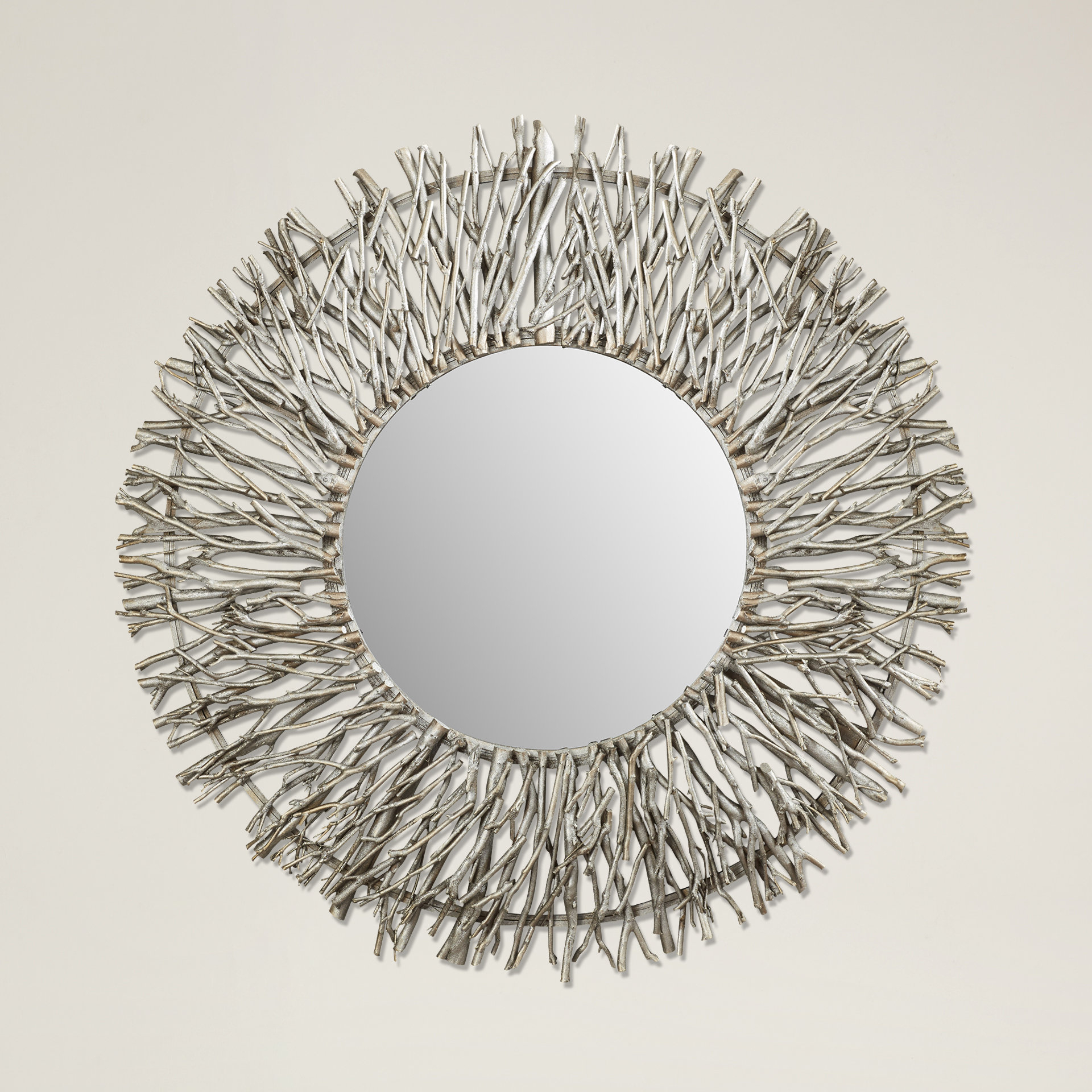 Cromartie Tree Branch Wall Mirror For Lidya Frameless Beveled Wall Mirrors (View 12 of 30)