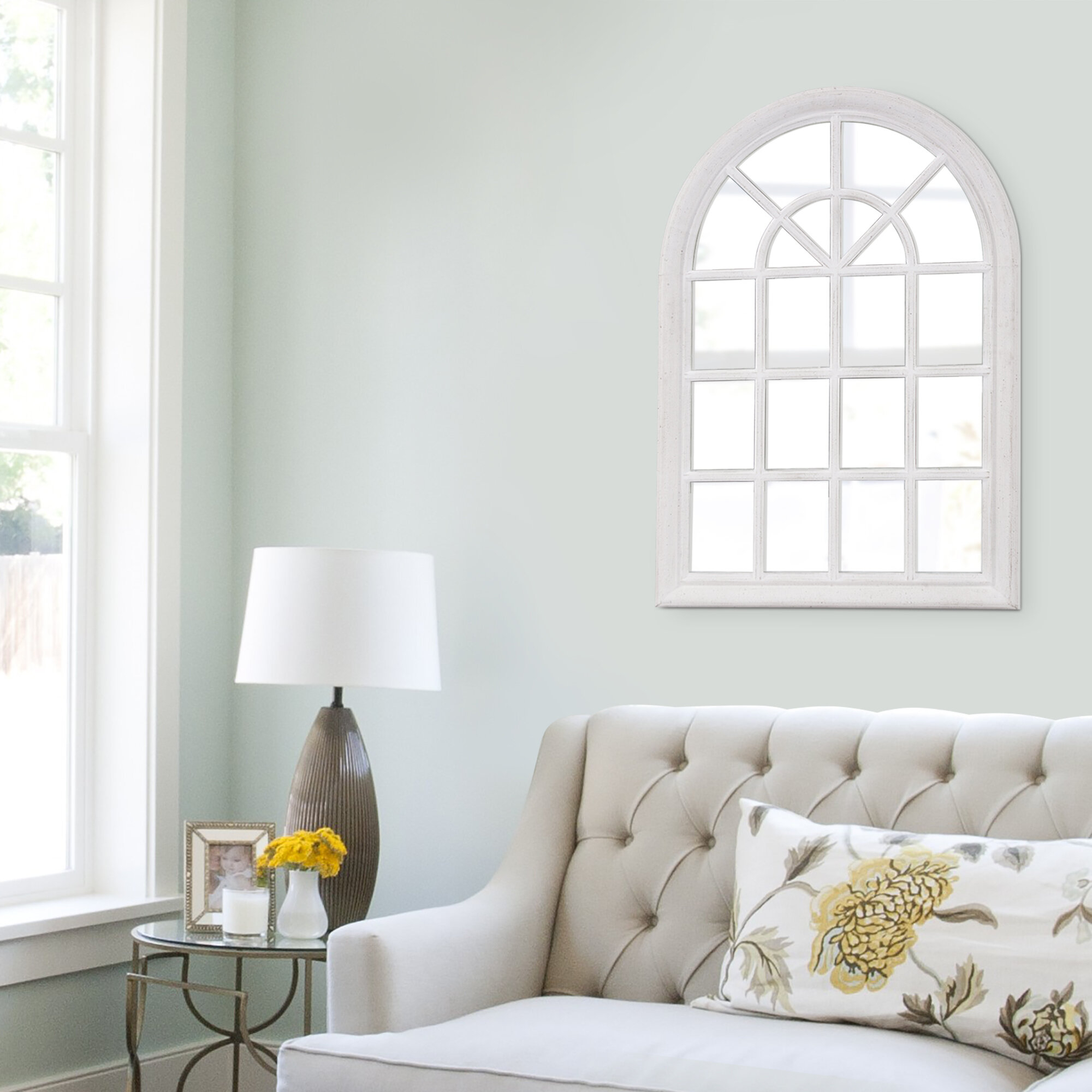 Crouse Arched Accent Mirror Pertaining To Ekaterina Arch/crowned Top Wall Mirrors (View 16 of 30)