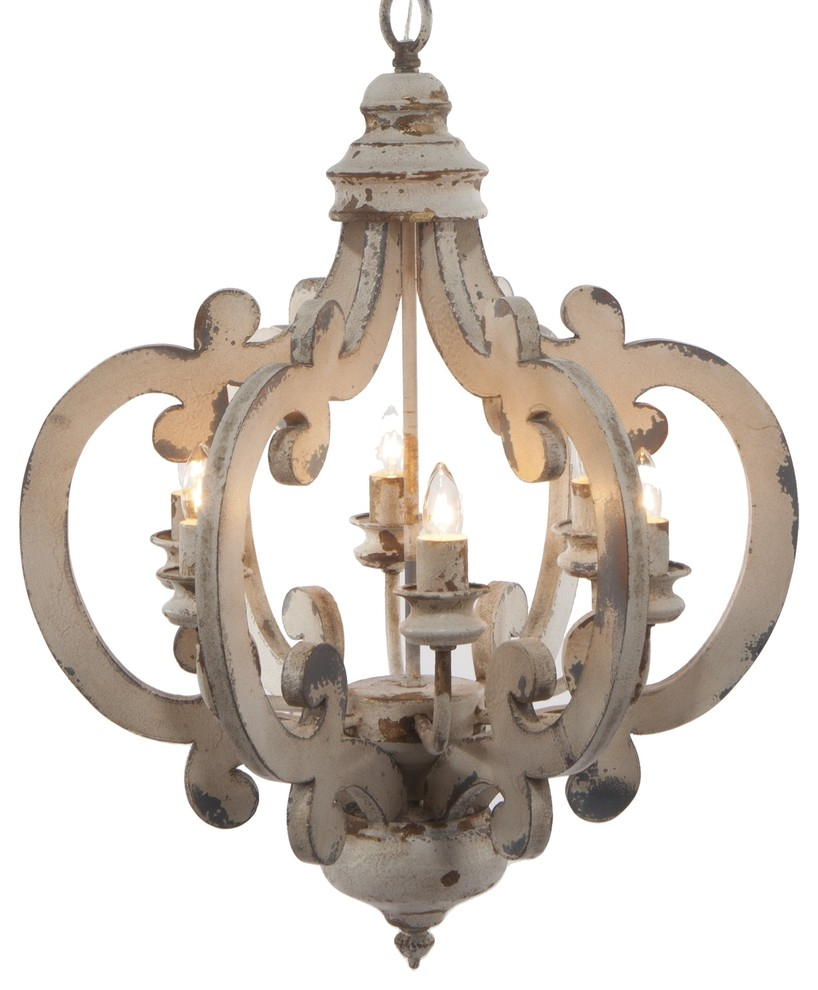 Crown 6 Light Chandelier With Regard To Diaz 6 Light Candle Style Chandeliers (View 21 of 30)