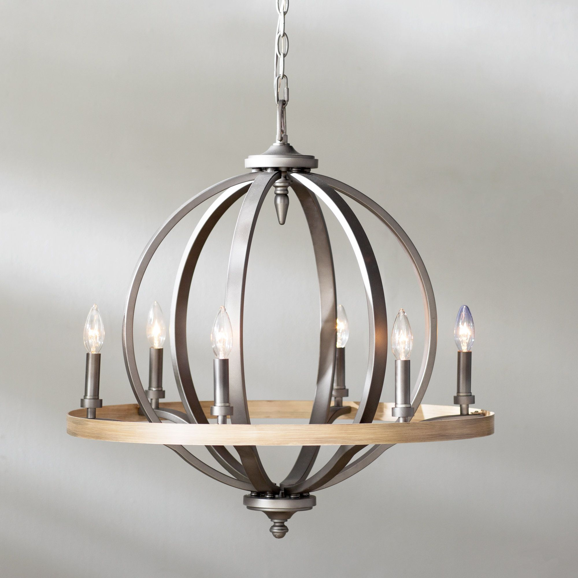 Crozier 6 Light Candle Style Chandelier | Products Throughout Bennington 6 Light Candle Style Chandeliers (View 23 of 30)