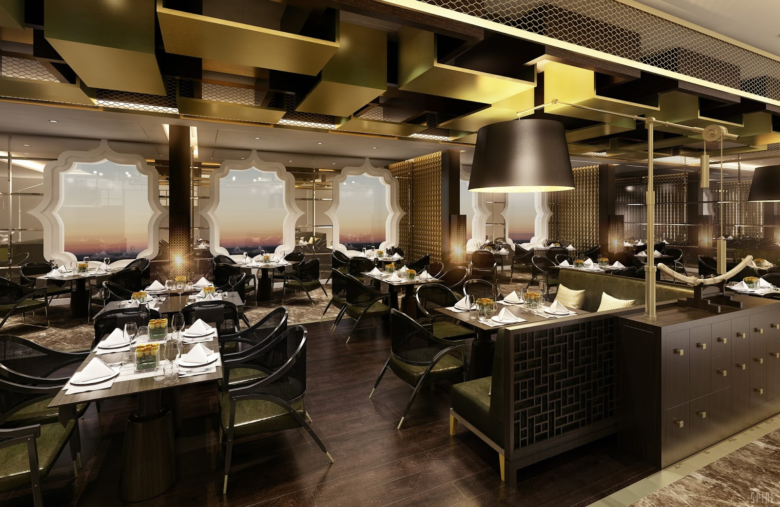 Cruise Diva: Pan Asian Restaurant To Debut On Seven Seas Inside Seven Seas Asian Sideboards (View 9 of 23)