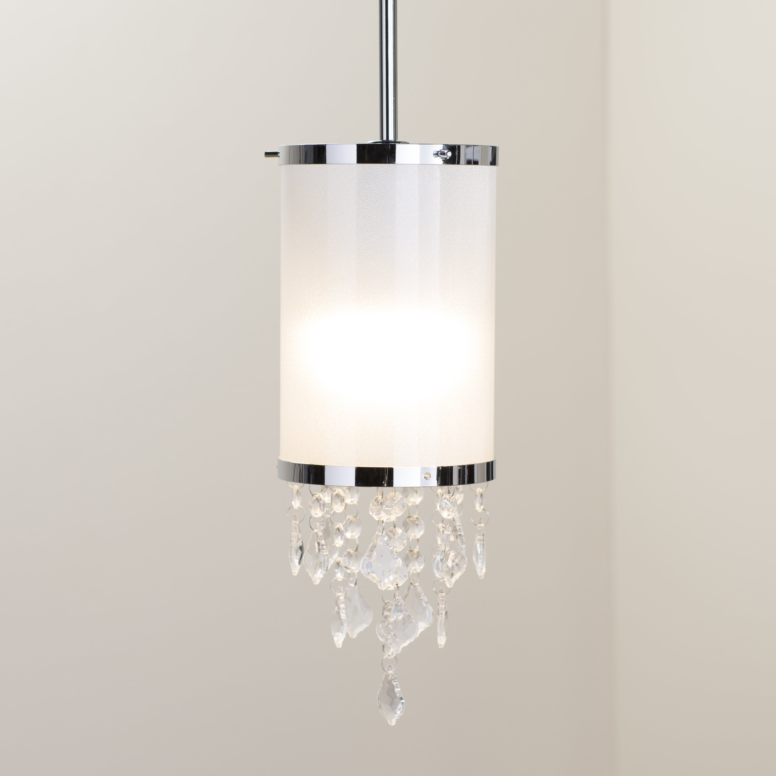 "Crystal Mini (less Than 10"" Wide) Pendant Lighting You'll For Kraker 1 Light Single Cylinder Pendants (View 9 of 30)"