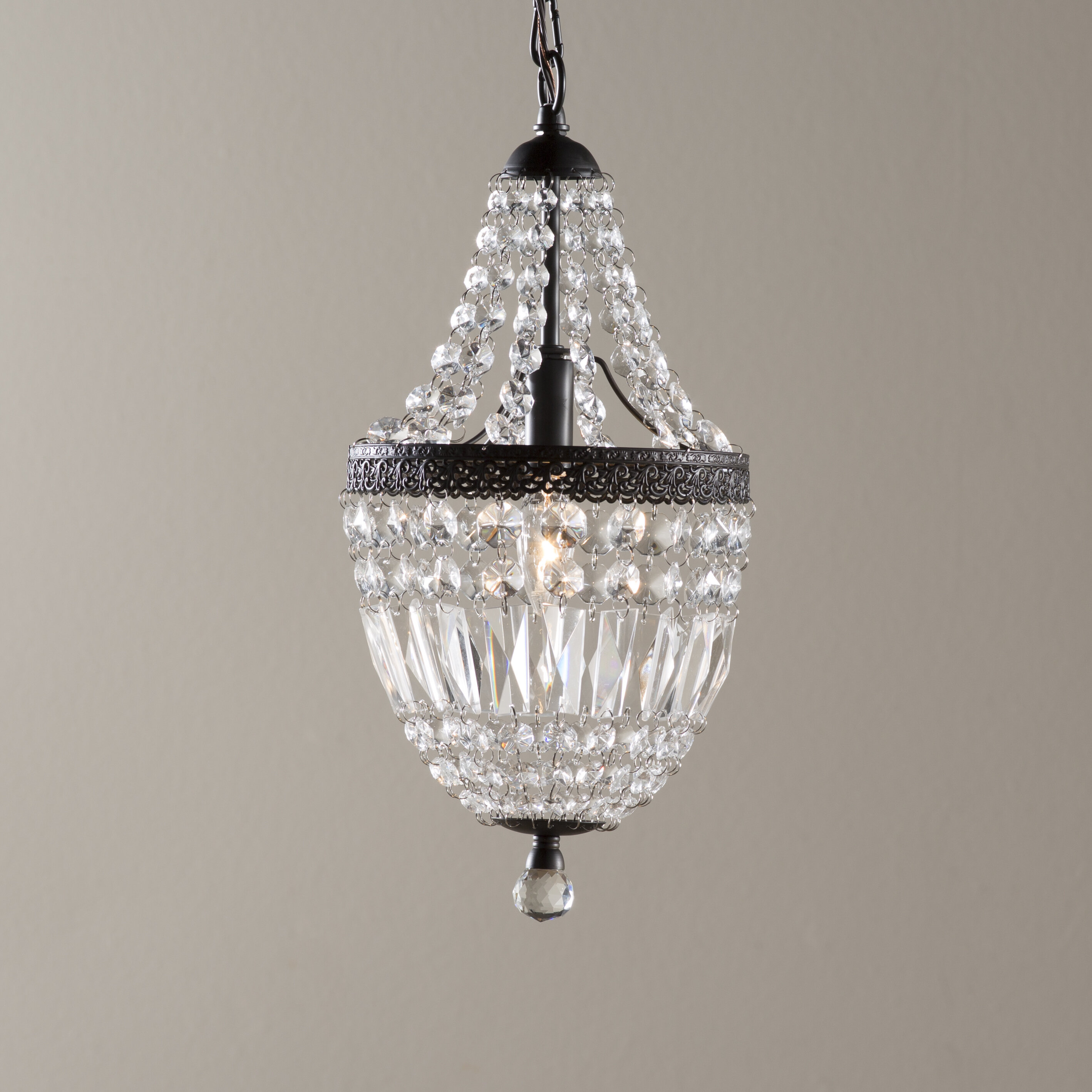 "Crystal Mini (less Than 10"" Wide) Pendant Lighting You'll In Kraker 1 Light Single Cylinder Pendants (View 16 of 30)"