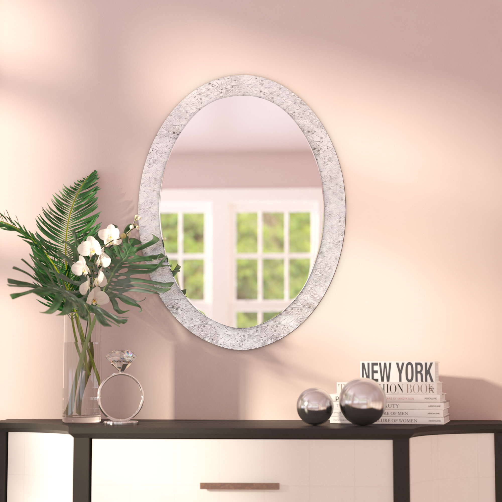 Crystal Mirror Decor | Wayfair For Sajish Oval Crystal Wall Mirrors (View 3 of 30)