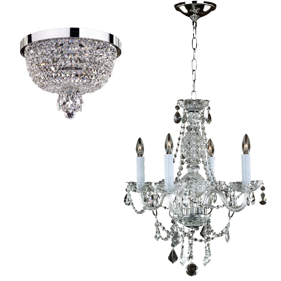 Crystal Palace 550a Box Set Ceiling Light Fixtures | 3 – 4 Lights Within Von 4 Light Crystal Chandeliers (View 6 of 30)