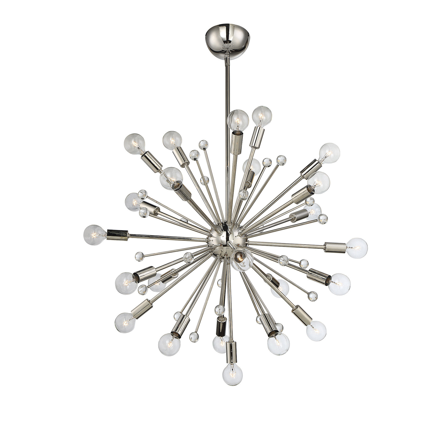 Cumbria 24-Light Sputnik Chandelier with regard to Asher 12-Light Sputnik Chandeliers (Image 11 of 30)