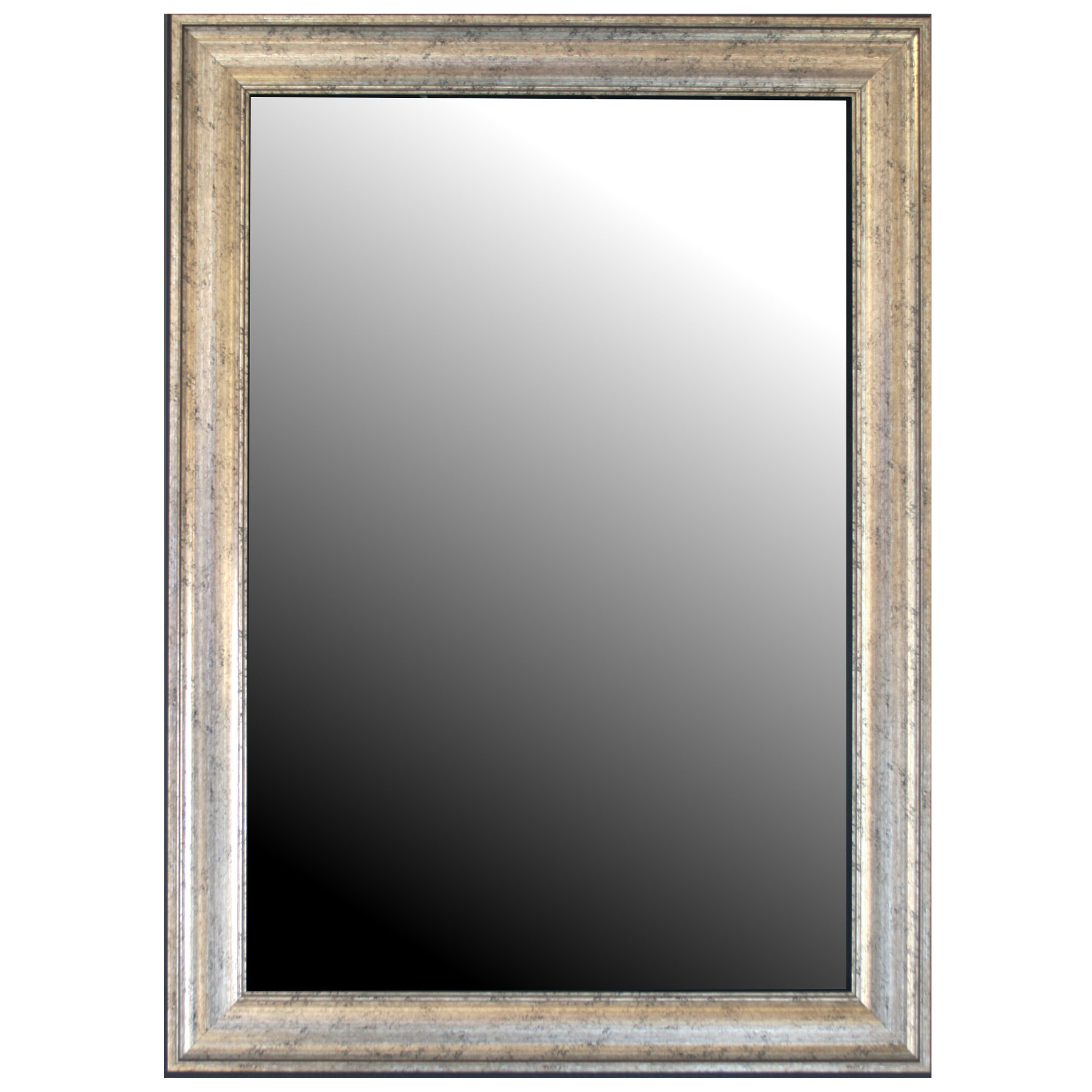 Curren Vintage Beveled Silver Wall Mirror for Boyers Wall Mirrors (Image 11 of 30)