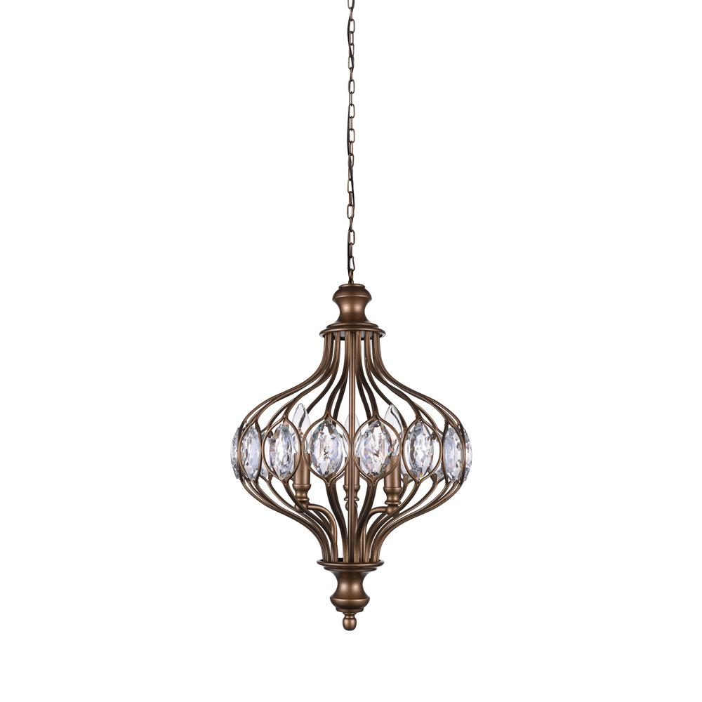 Cwi Lighting Altair 6-Light Antique Bronze Chandelier for Donna 6-Light Globe Chandeliers (Image 4 of 30)