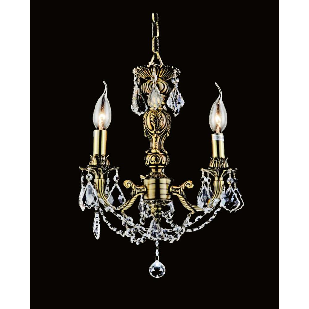 Cwi Lighting Brass 3 Light French Gold Chandelier With Regard To Hermione 5 Light Drum Chandeliers (View 24 of 30)
