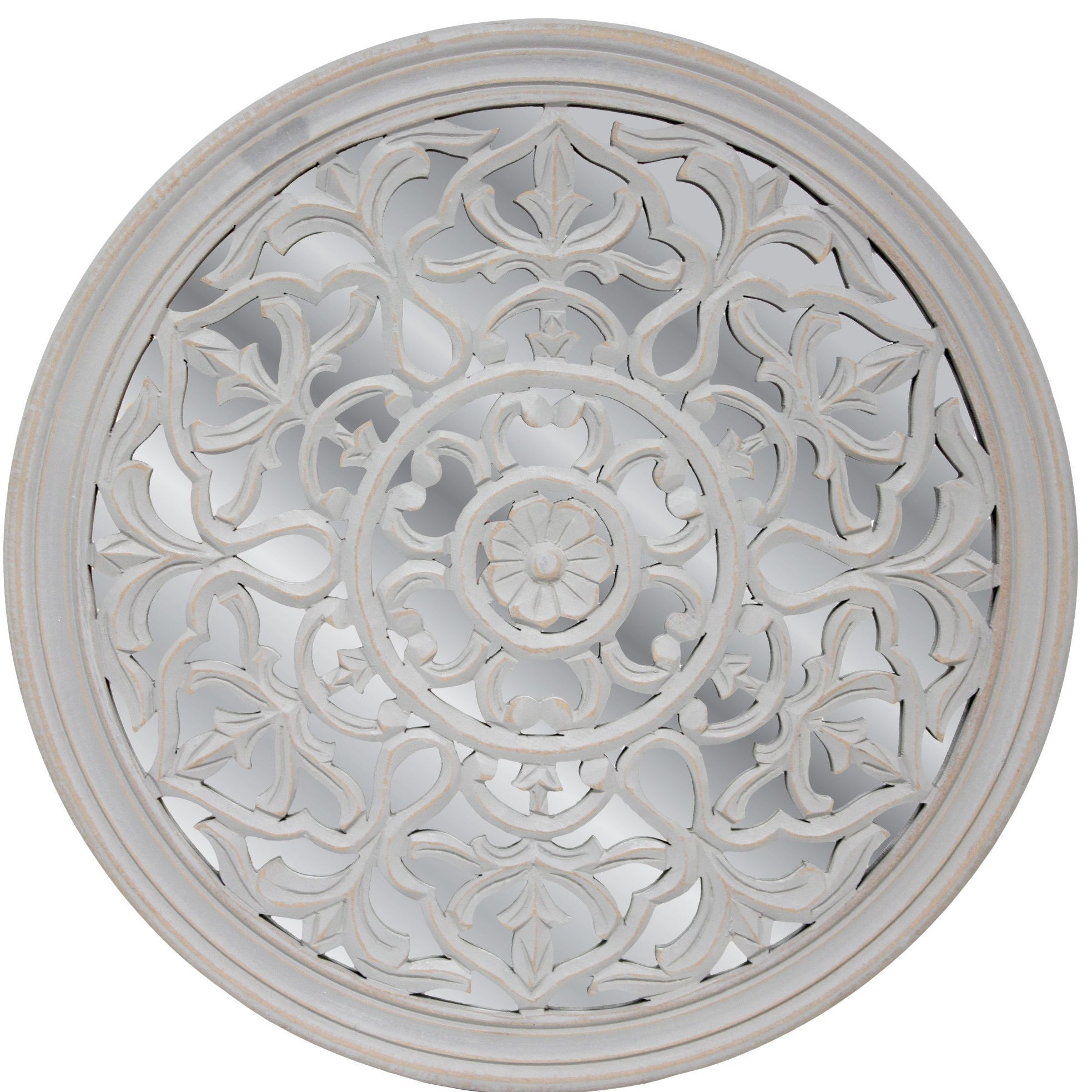 Cyrus Medallion Wall Mirror | Products | Fetco Home Decor In Medallion Accent Mirrors (View 7 of 30)