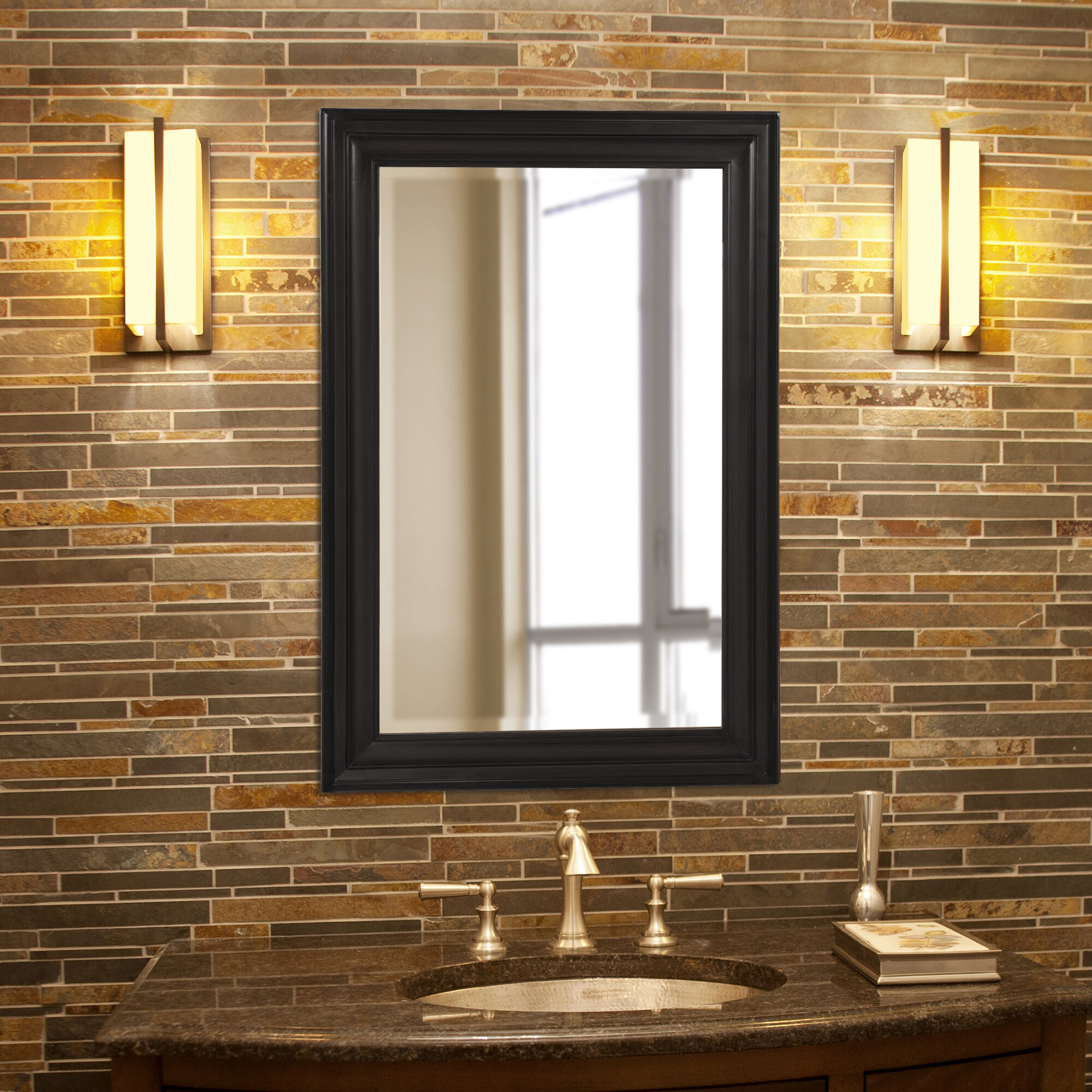 Cyrus Modern And Contemporary Beveled Accent Mirror Inside Peetz Modern Rustic Accent Mirrors (Image 8 of 30)