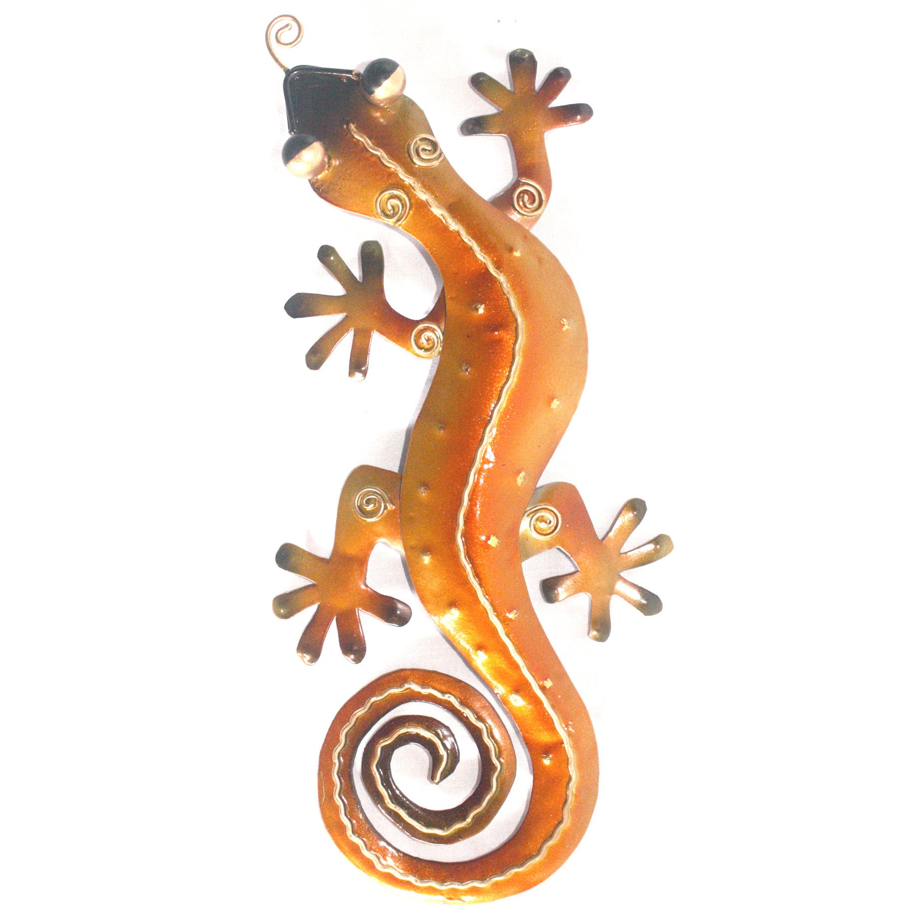 D Art Collection Iron Orange Gecko Wall Decor – Small Pertaining To Gecko Wall Decor (View 22 of 30)