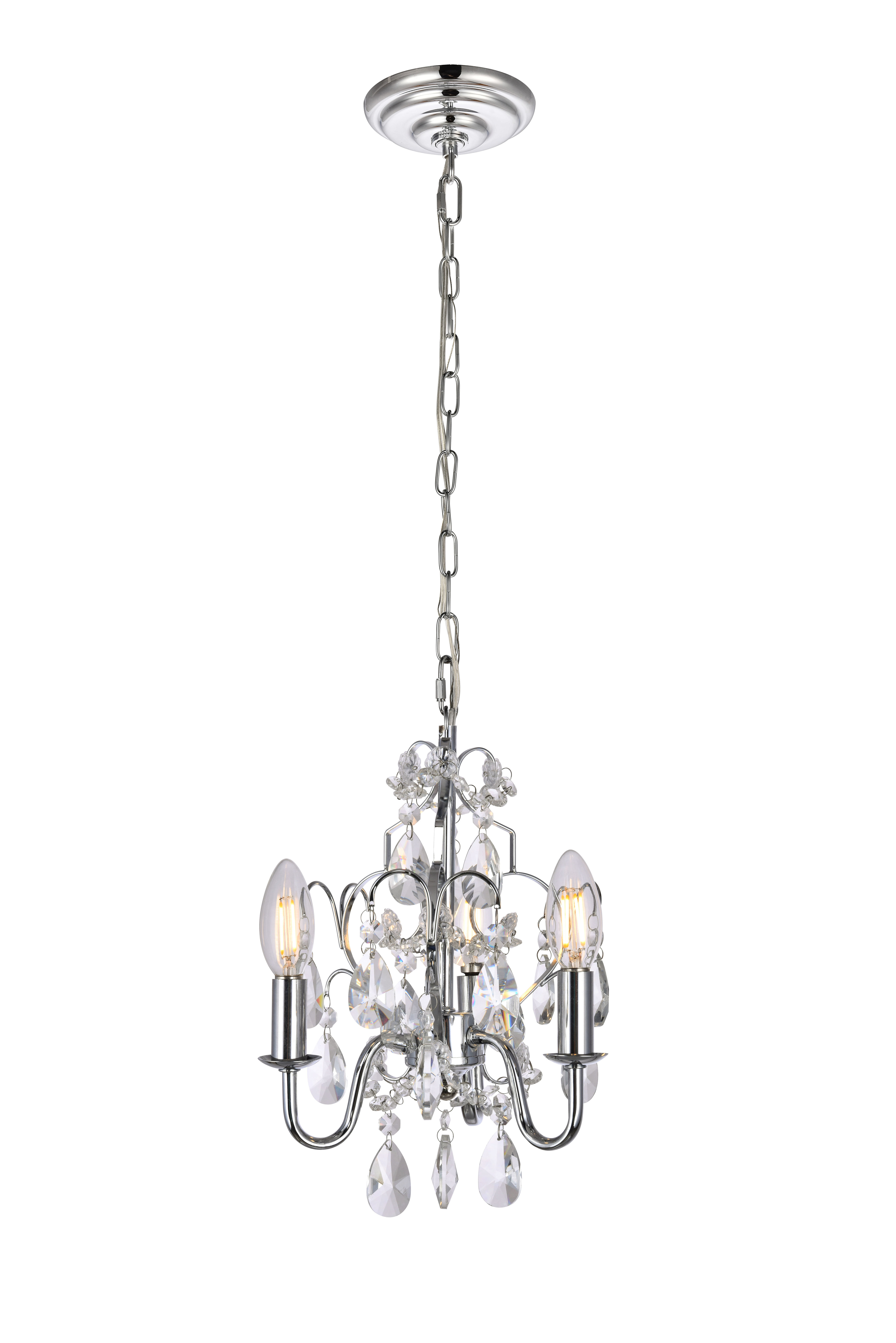 Dagnall 3 Light Candle Style Chandelier Throughout Benedetto 5 Light Crystal Chandeliers (Gallery 22 of 30)