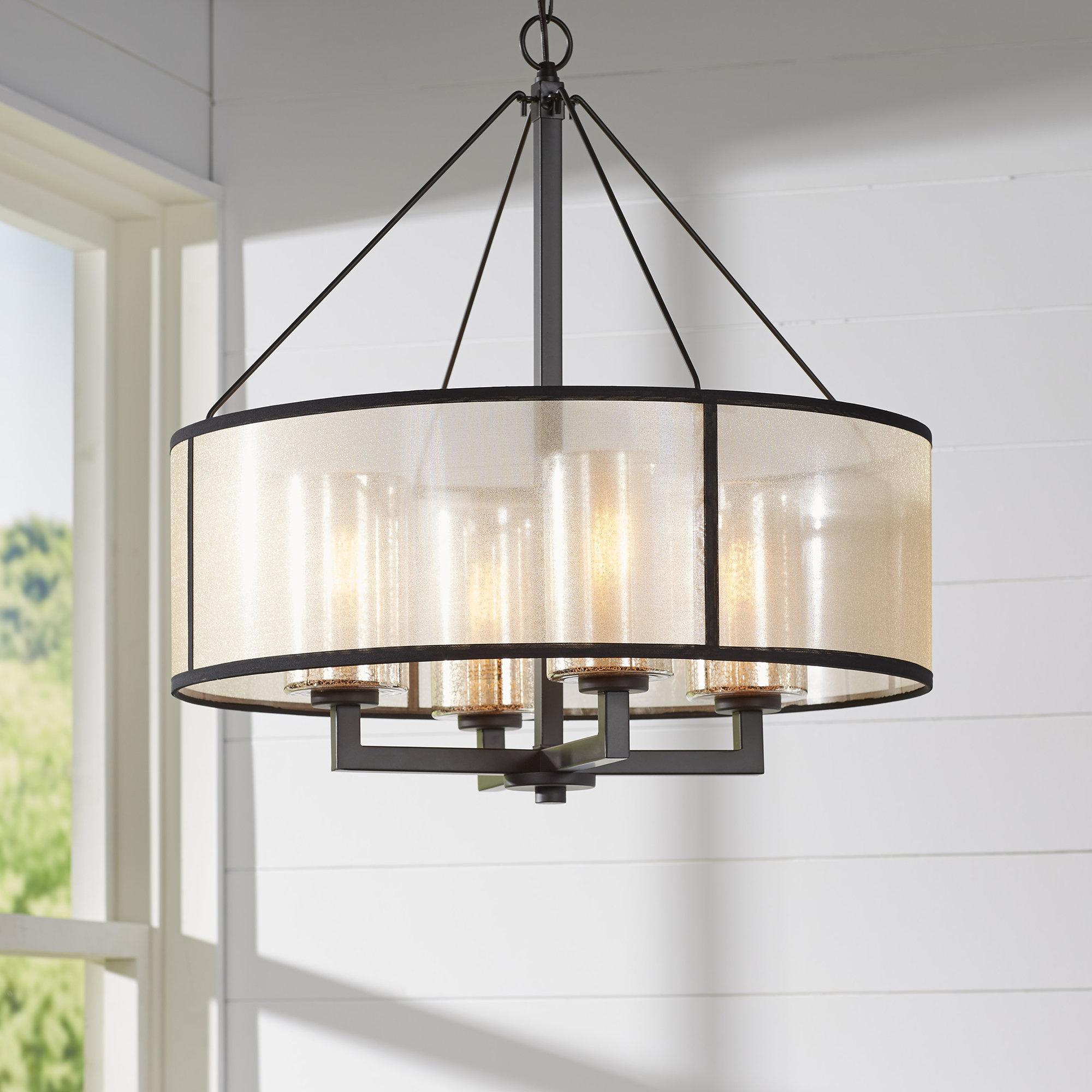 Dailey 4 Light Drum Chandelier Throughout Farrier 3 Light Lantern Drum Pendants (Photo 11 of 30)