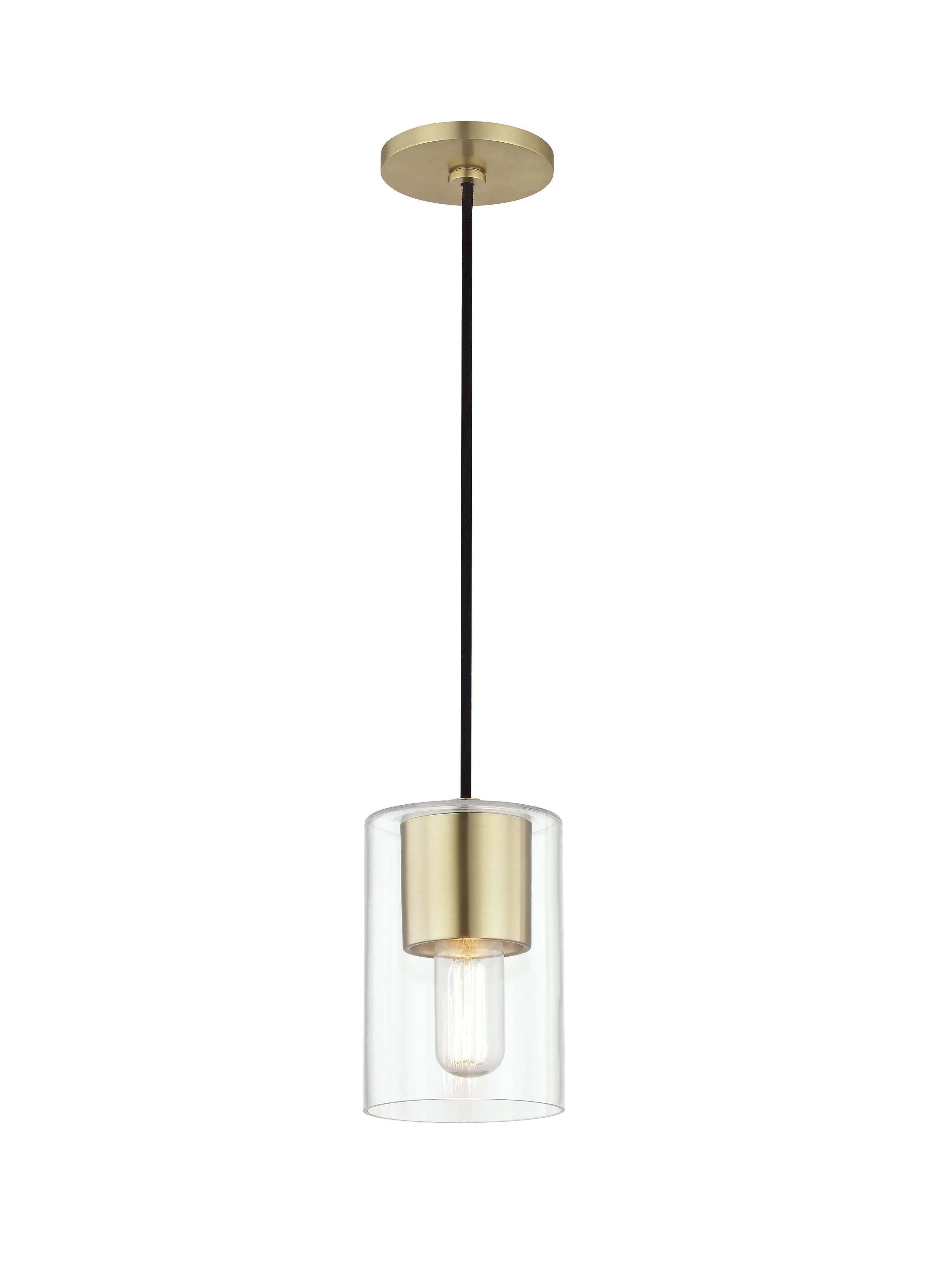 Damp Location Pendant Lighting | Joss & Main with Bainbridge 1-Light Single Cylinder Pendants (Image 9 of 30)