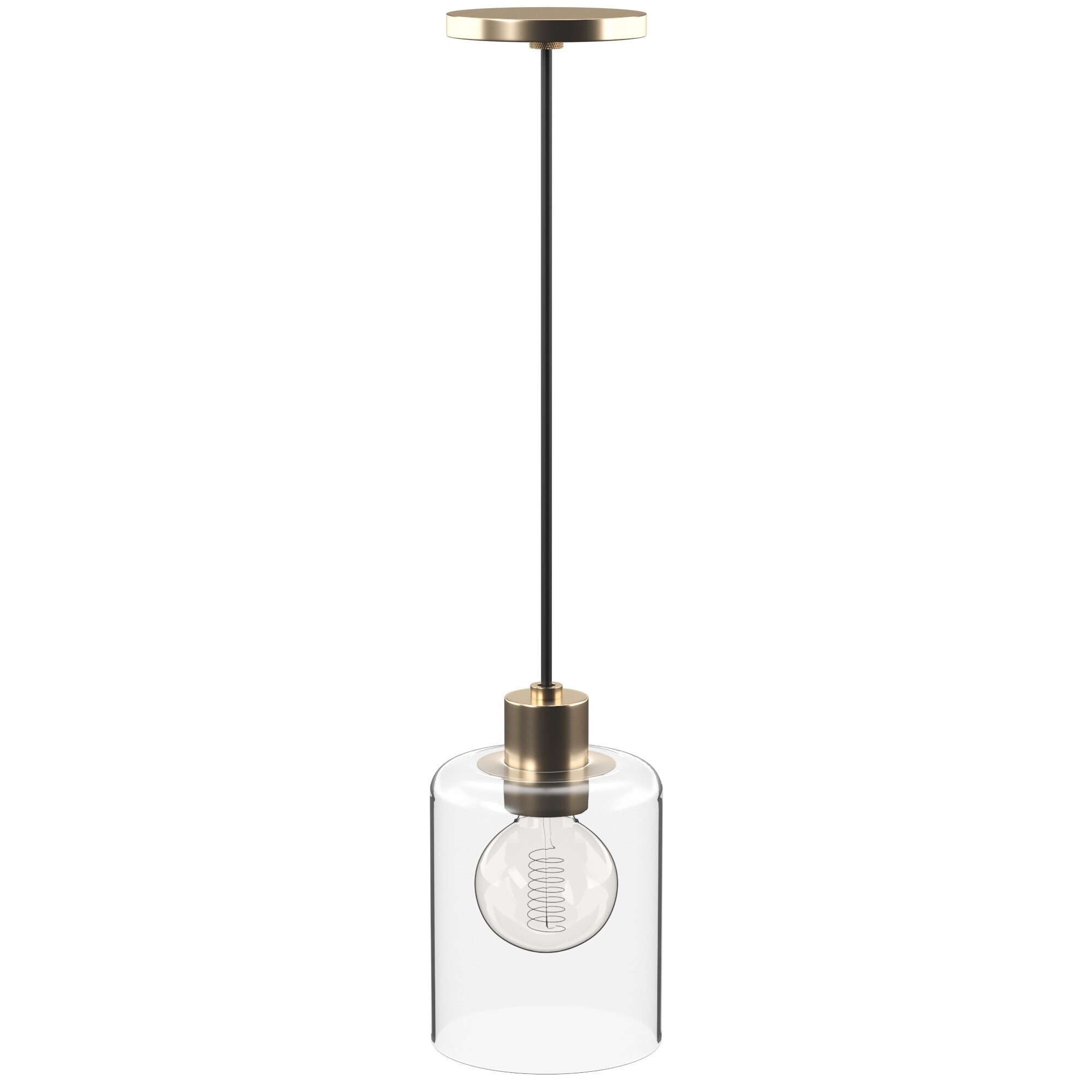Damp Location Pendant Lighting | Joss & Main With Regard To Bainbridge 1 Light Single Cylinder Pendants (Gallery 20 of 30)