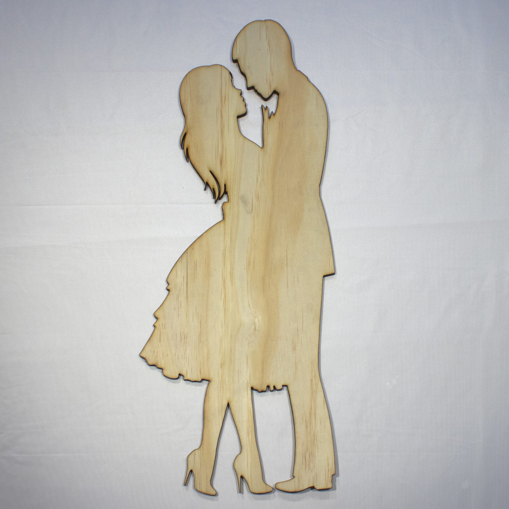 Dancing Couple In Love 22In Tall Laser Cut Wood Silhouette Wall Art in Let Whatever You Do Today Be Enough Wood Wall Decor (Image 4 of 30)