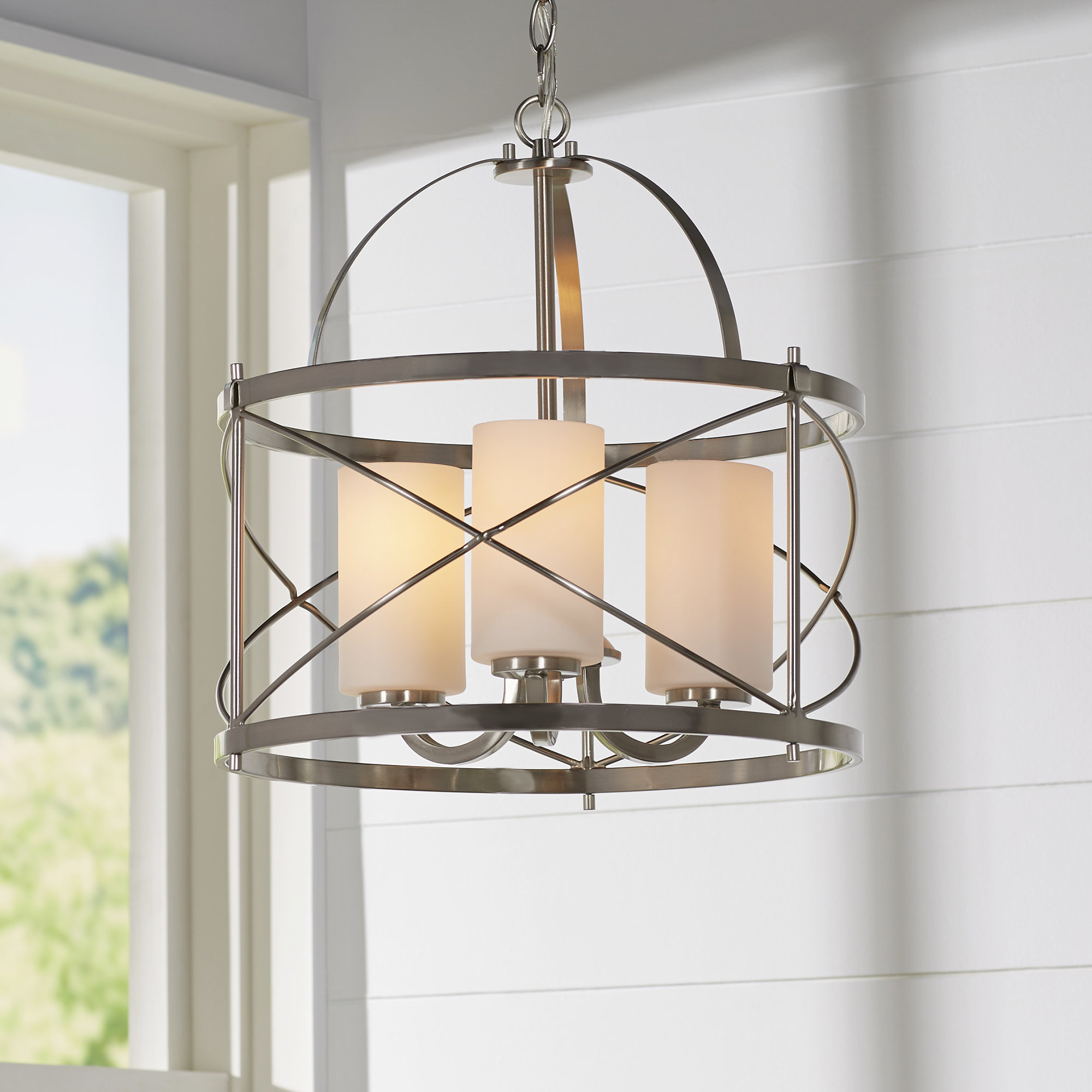 Darby Home Co Farrier 3 Light Lantern Drum Pendant Within Armande 4 Light Lantern Drum Pendants (View 16 of 30)