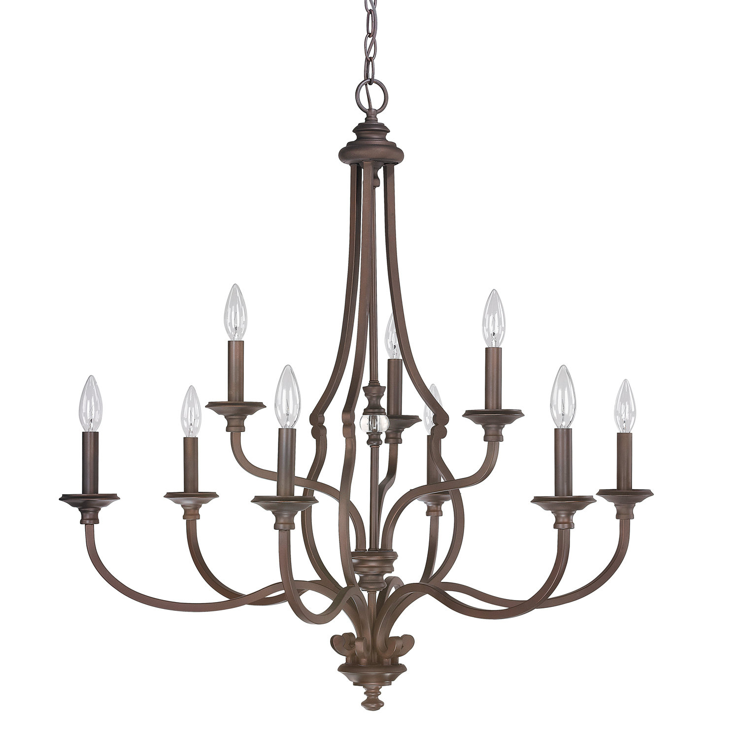 Darby Home Co Jaclyn 9 Light Candle Style Chandelier Inside Gaines 9 Light Candle Style Chandeliers (Photo 5 of 30)