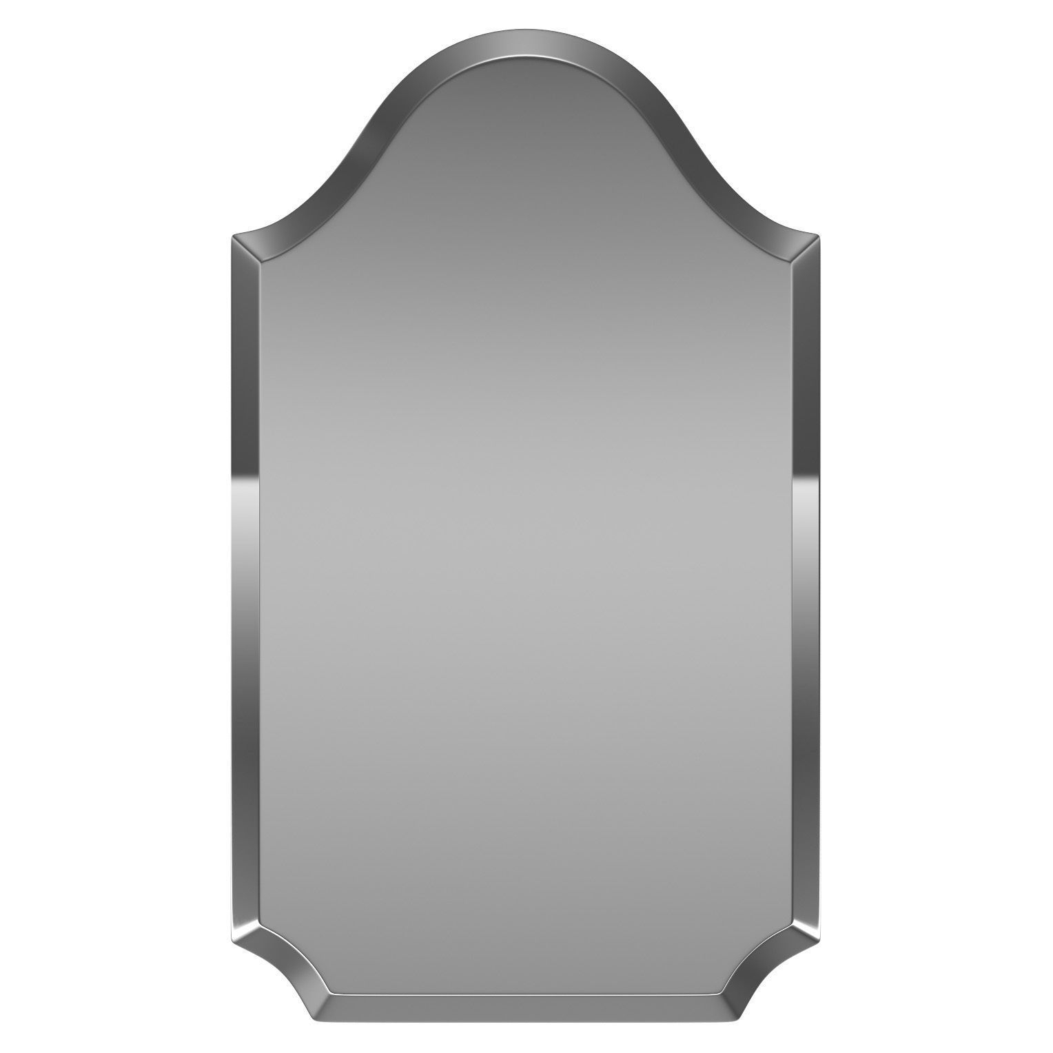 Dariel Tall Arched Scalloped Wall Mirror Wrlo6854 | 3D Model regarding Dariel Tall Arched Scalloped Wall Mirrors (Image 8 of 30)