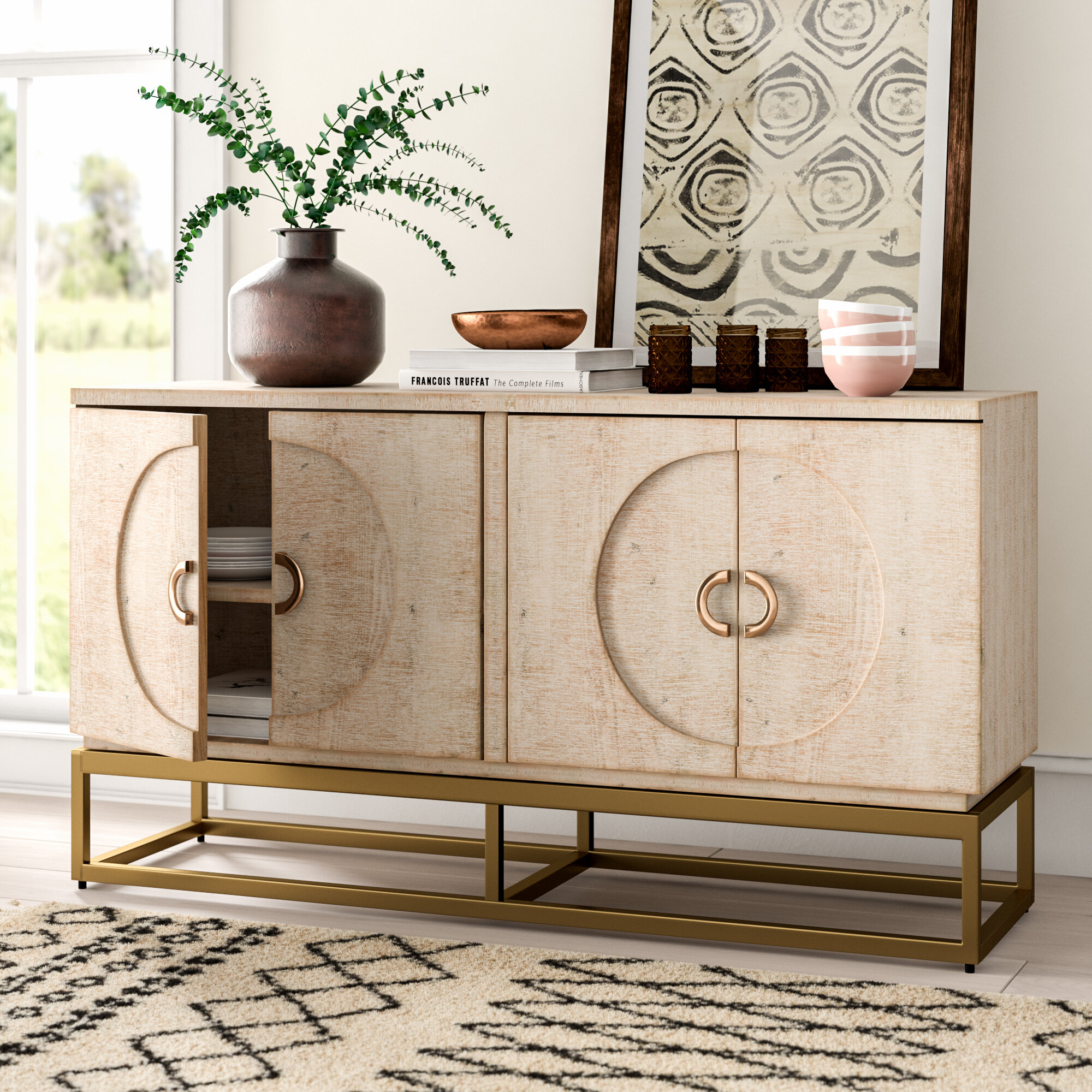 Darrius Wood Sideboard Intended For Mauzy Sideboards (Gallery 21 of 30)