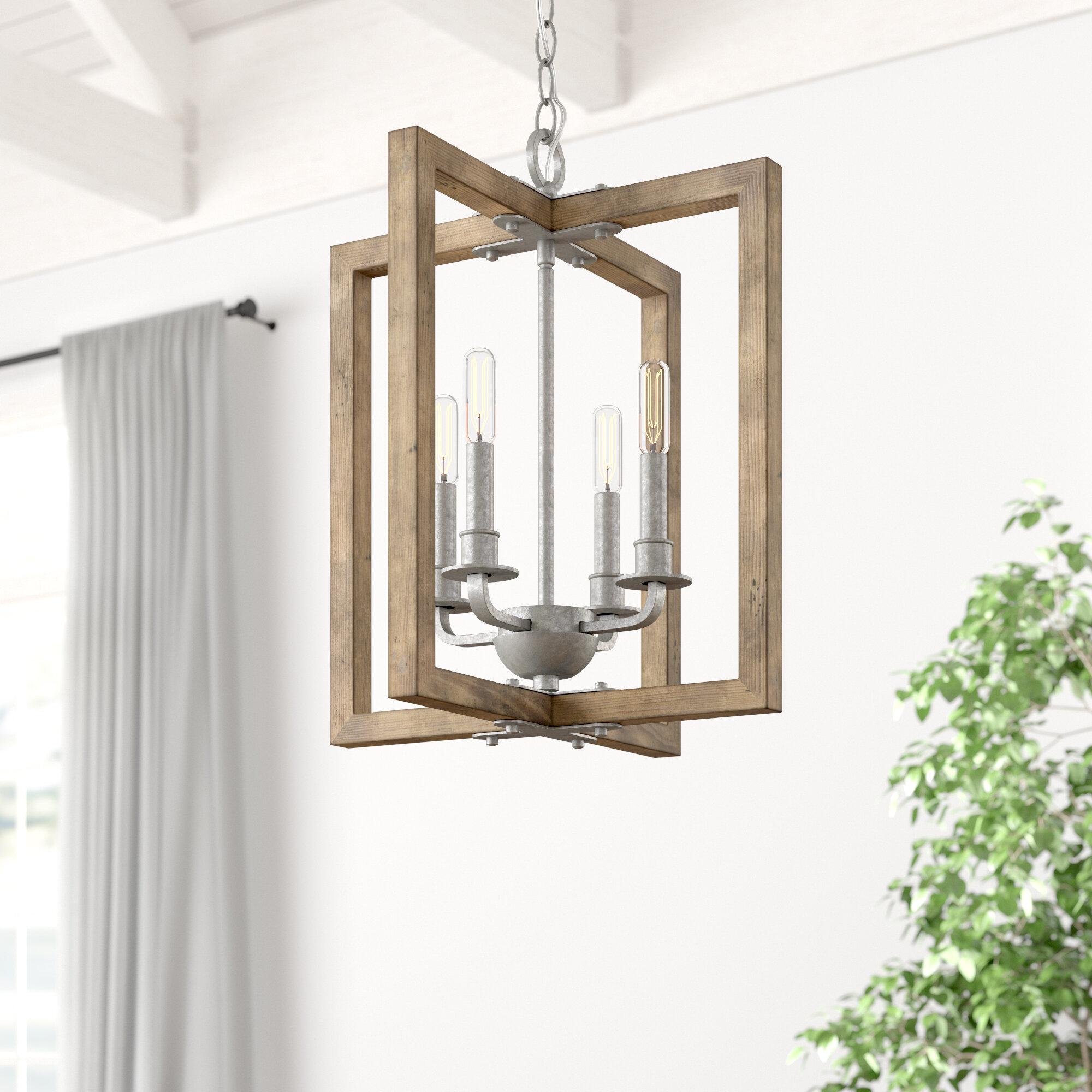 Daugherty 4 Light Square/rectangle Chandelier Pertaining To William 4 Light Lantern Square / Rectangle Pendants (Photo 24 of 30)