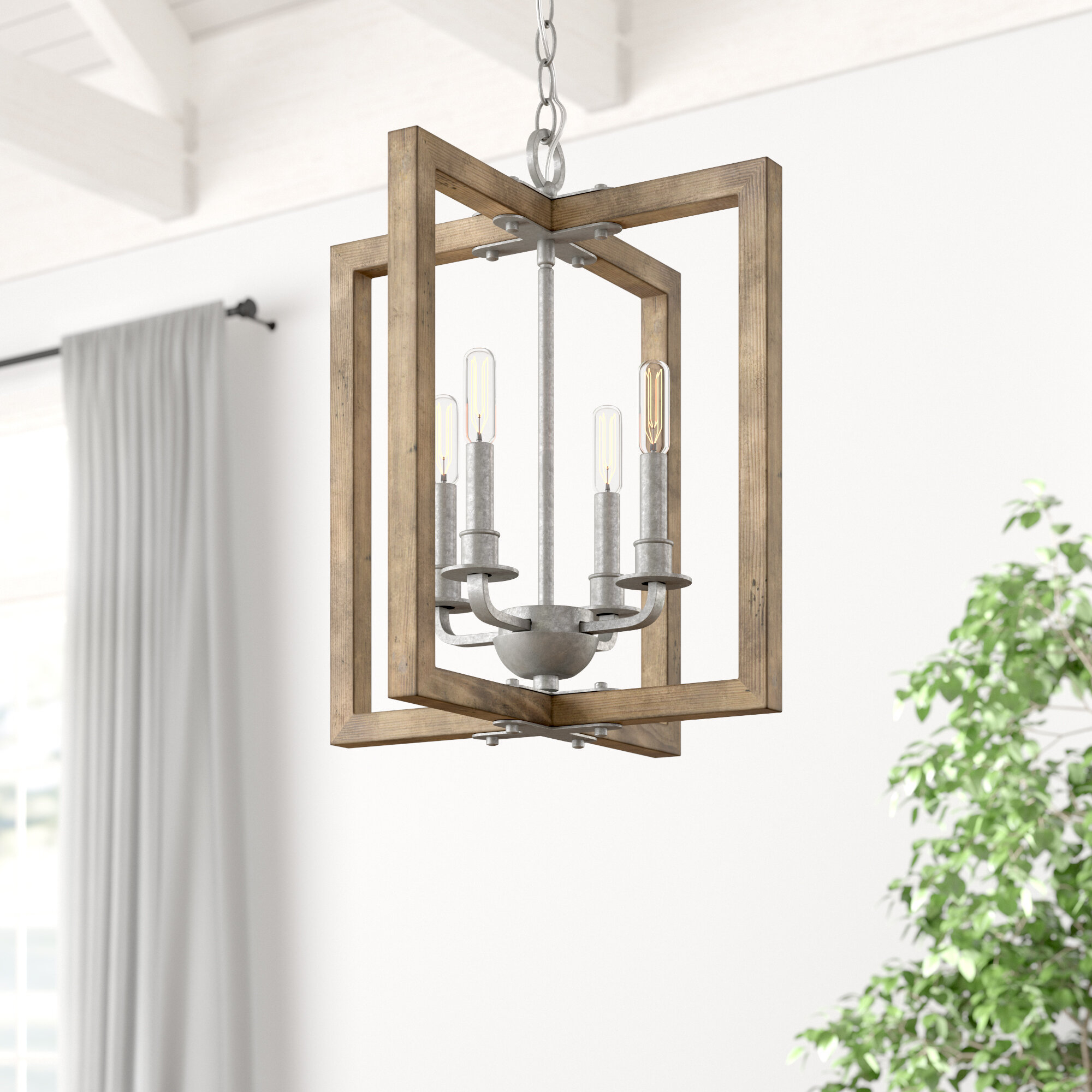 Daugherty 4 Light Square/rectangle Chandelier Within Freeburg 4 Light Lantern Square / Rectangle Pendants (View 10 of 30)