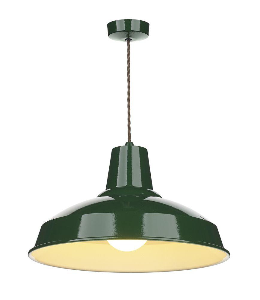 David Hunt Lighting Rec0124 Reclamation 1 Light Racing Green Throughout Gattis 1 Light Dome Pendants (View 21 of 30)