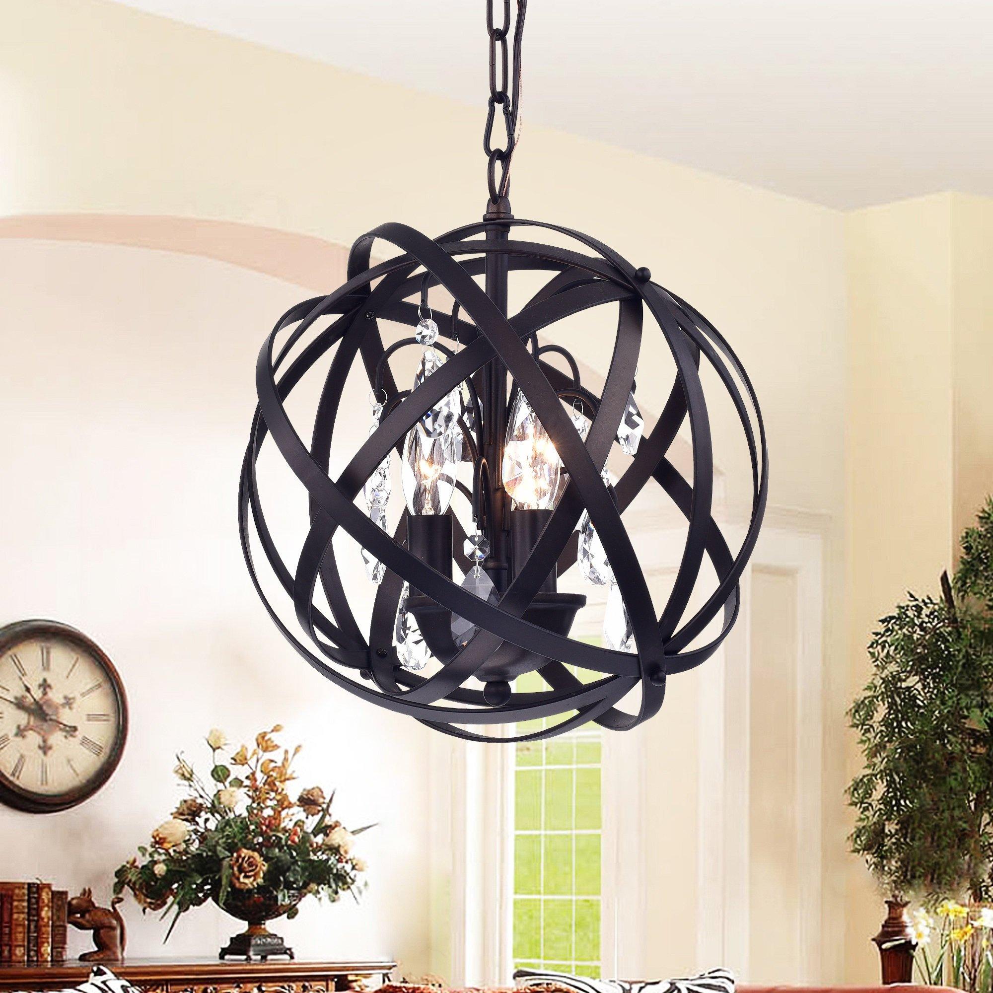 Deadra 3 Light Globe Pendant Intended For Adcock 3 Light Single Globe Pendants (View 16 of 30)