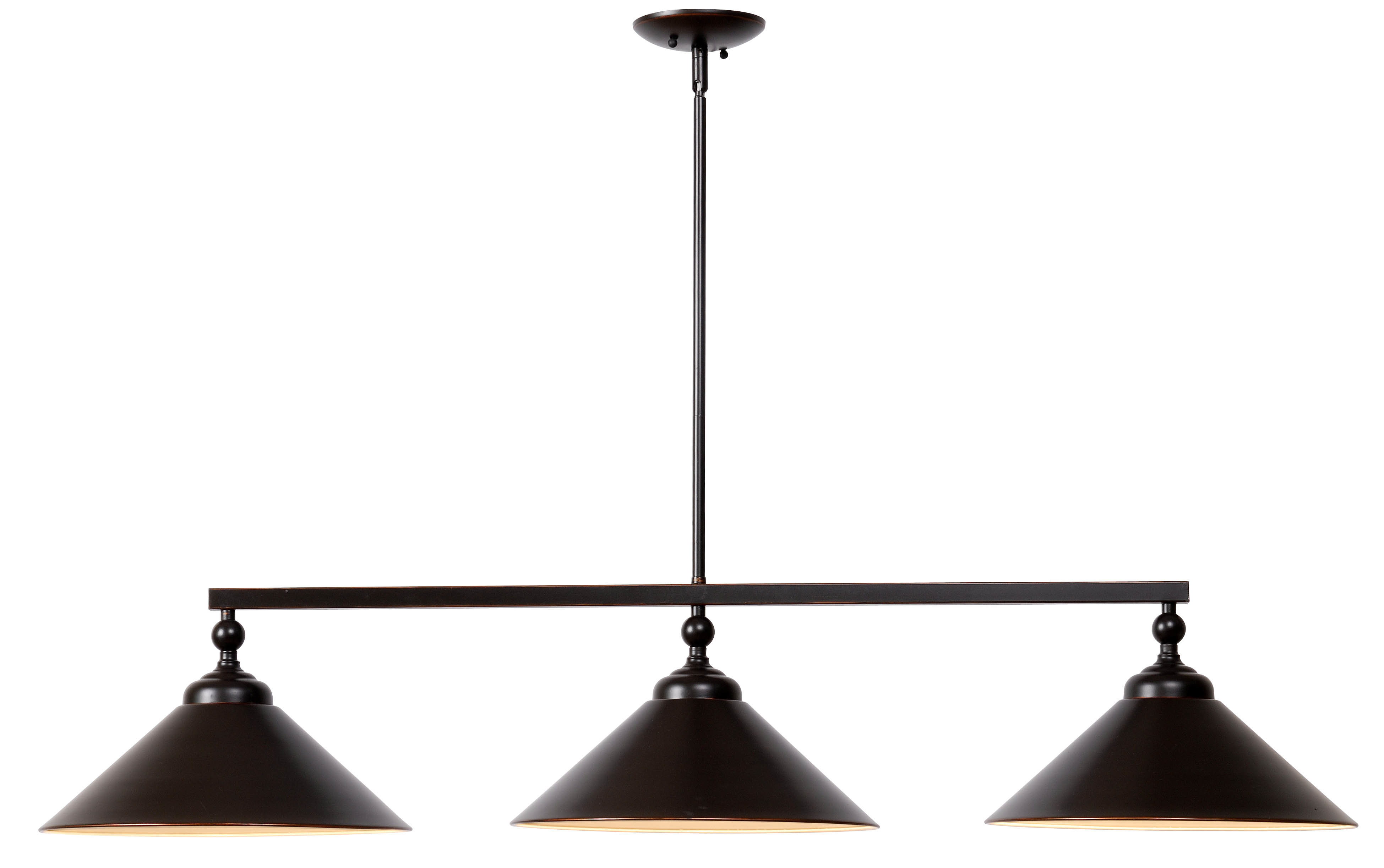 Debra 3 Light Kitchen Island Cone Pendant Regarding Cinchring 1 Light Cone Pendants (View 16 of 30)