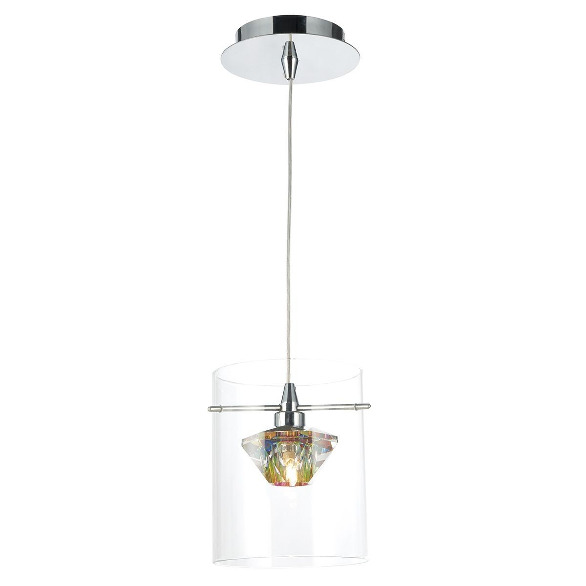 Decade 1 Light Pendant Polished Chrome/clear With Regard To Nolan 1 Light Single Cylinder Pendants (Photo 24 of 30)