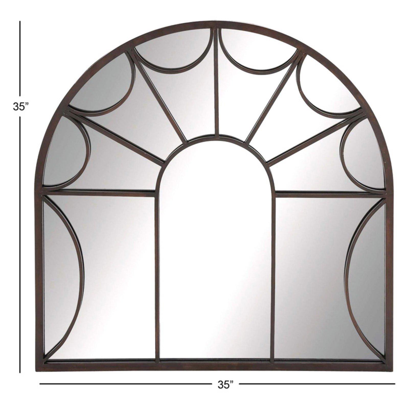 Decmode Metal Wall Mirror, Black Regarding Traditional Metal Wall Mirrors (View 18 of 30)