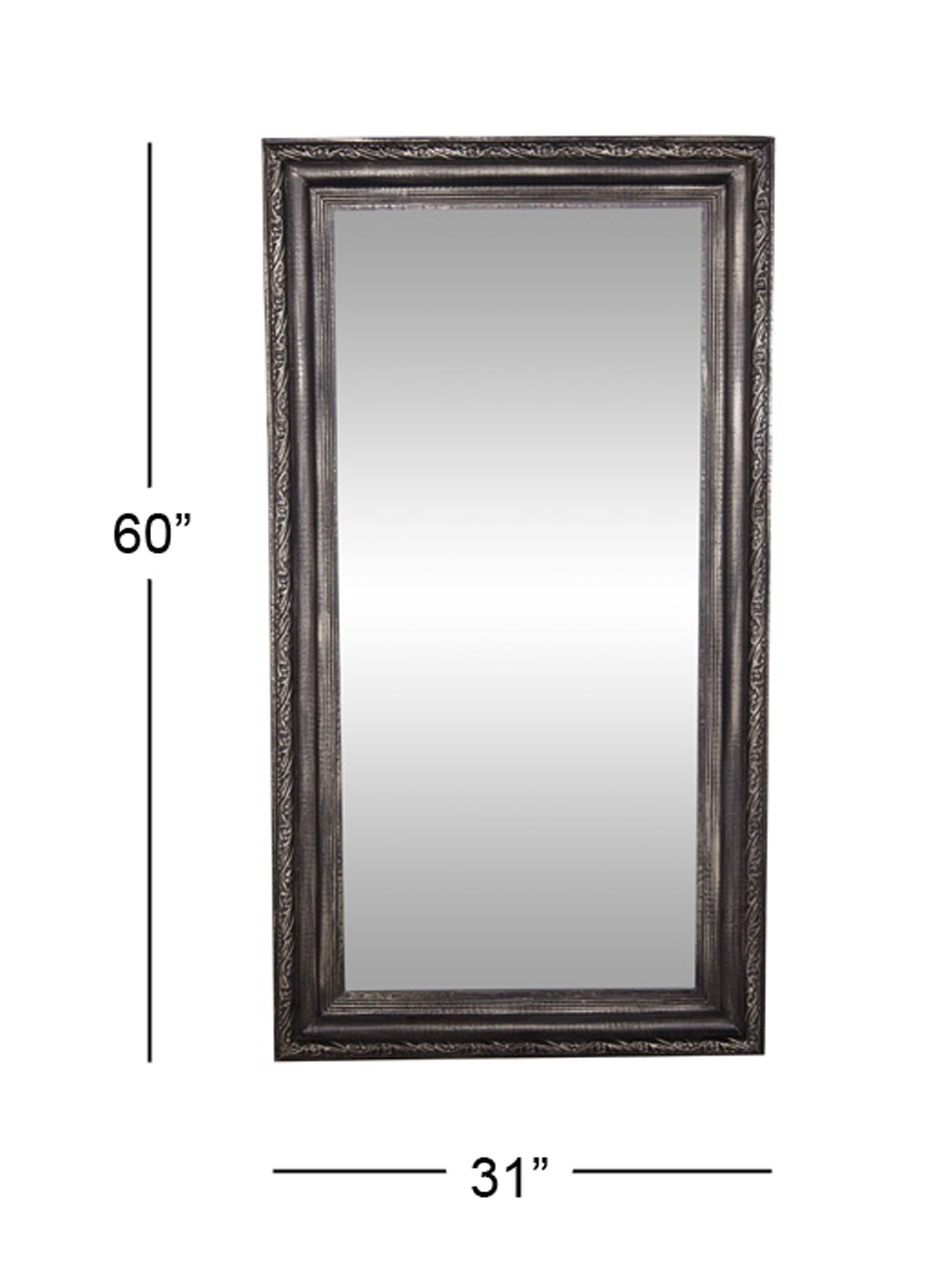 Decmode Traditional 60 X 32 Inch Black Wood And Metal Rectangular Wall  Mirror Inside Traditional Metal Wall Mirrors (Photo 28 of 30)